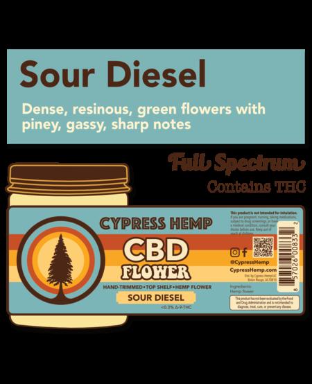 Cypress Hemp CBD Hemp Flower - Sour Diesel 3.5g