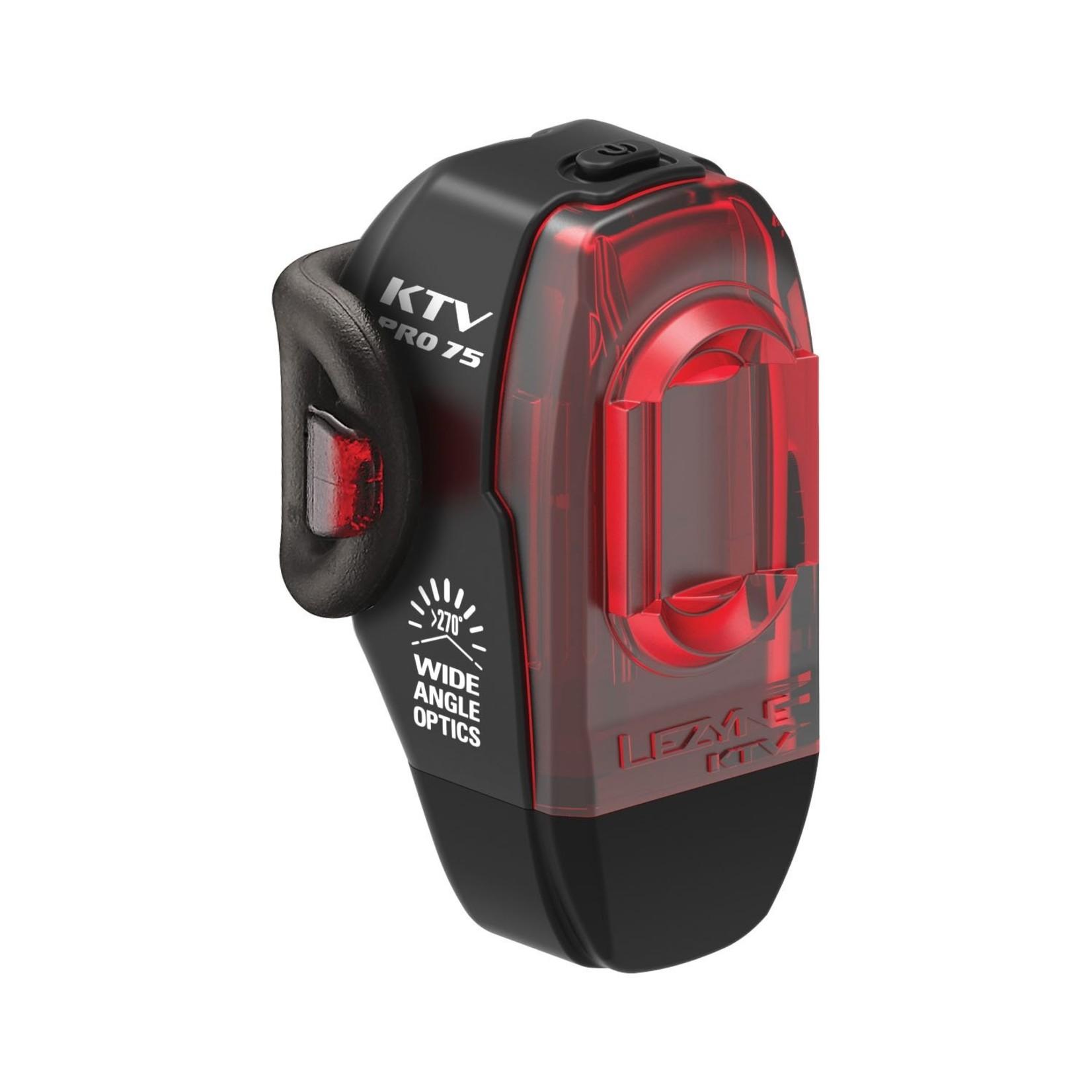 Lezyne LEZYNE LED PRO REAR - BLACK 75 LUMEN, USB RECHARGEABLE, CO-MOLD BODY, Y13