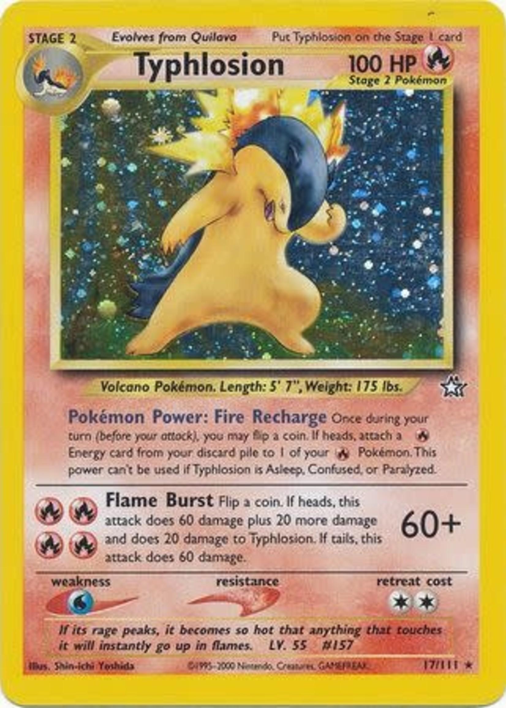 Pokemon Typhlosion - 17/111 - Holo Unlimited (MP)