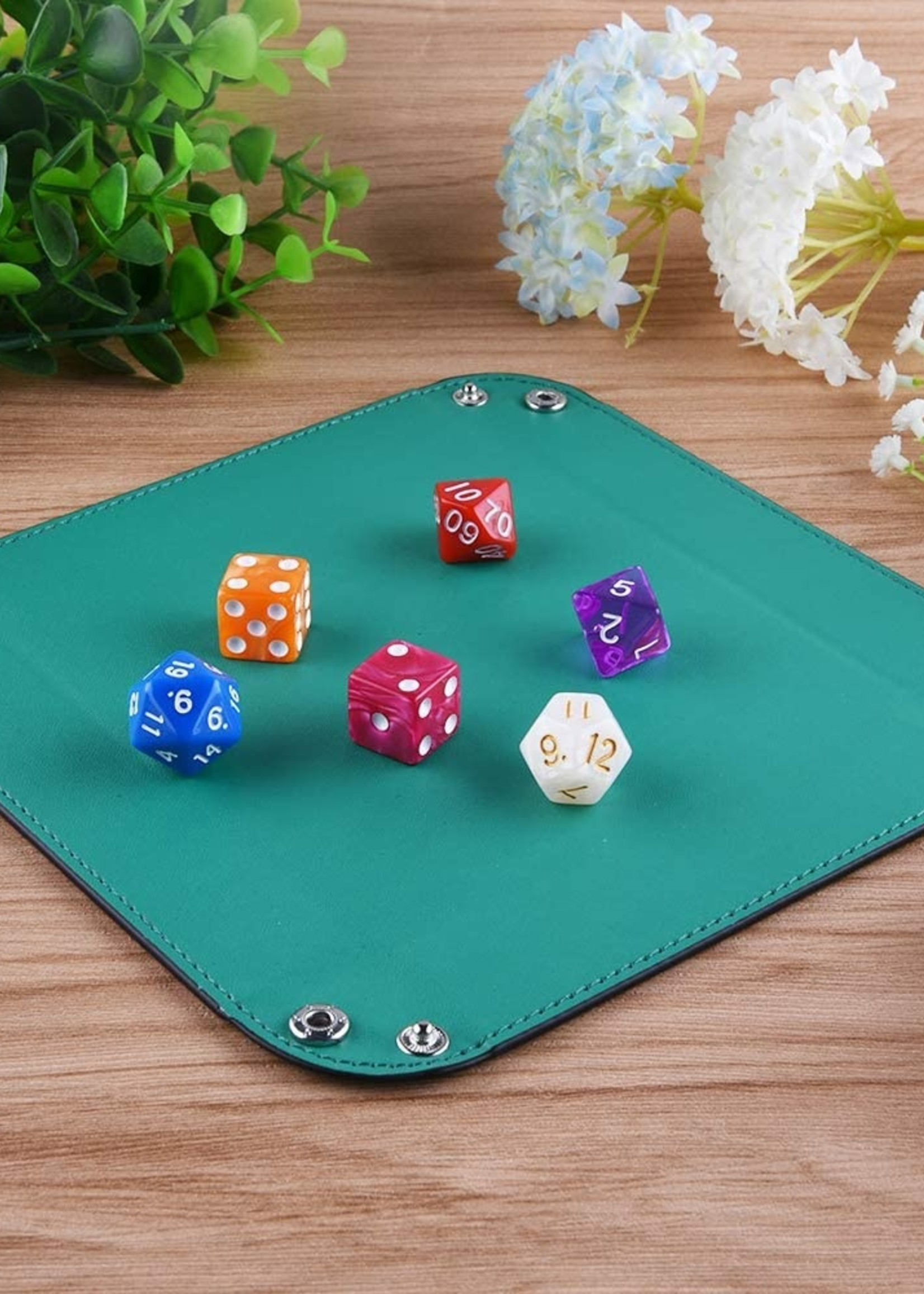 Folding Leather Dice Tray