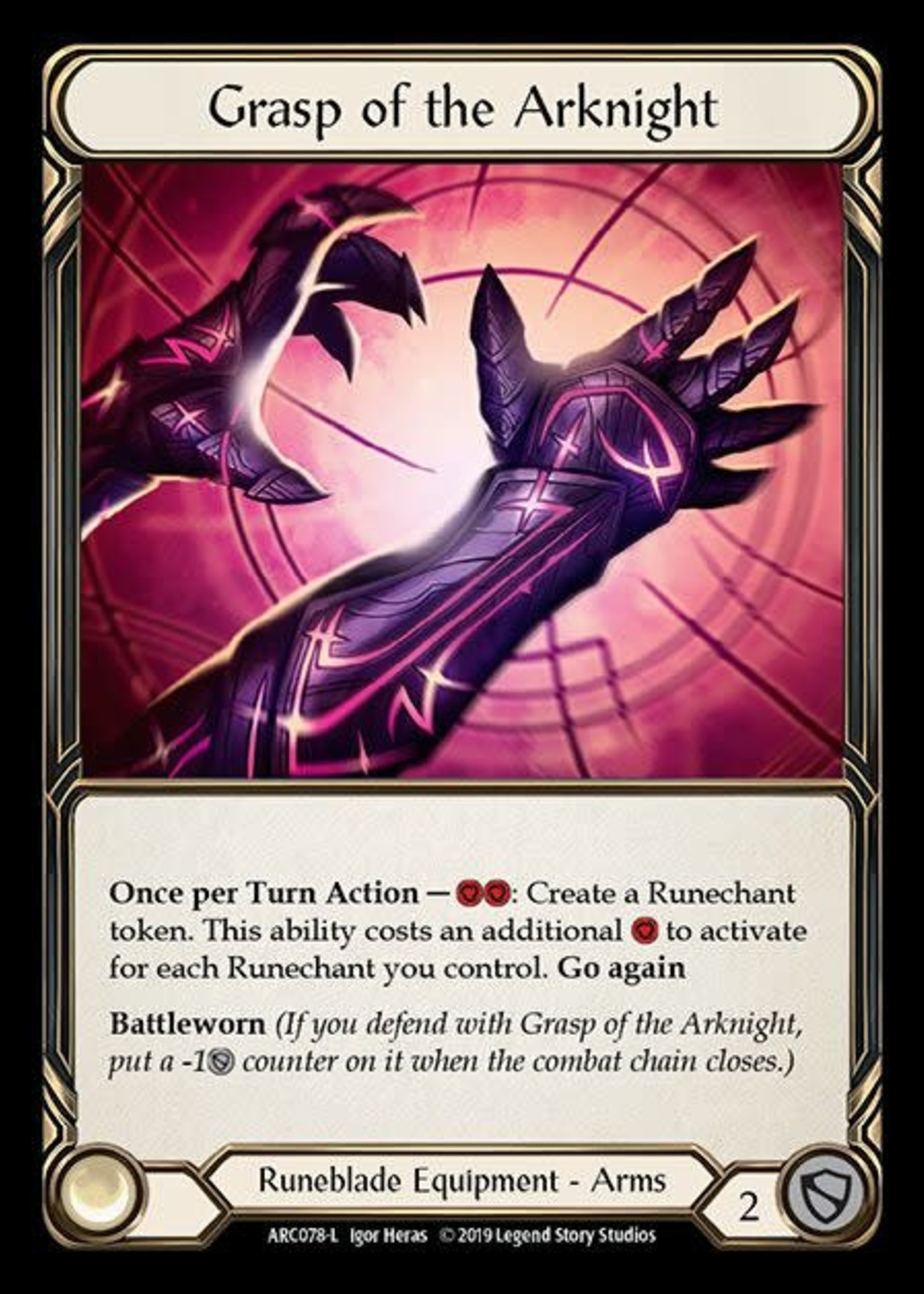 Flesh and Blood Grasp of the Arknight, Foil, ARC078