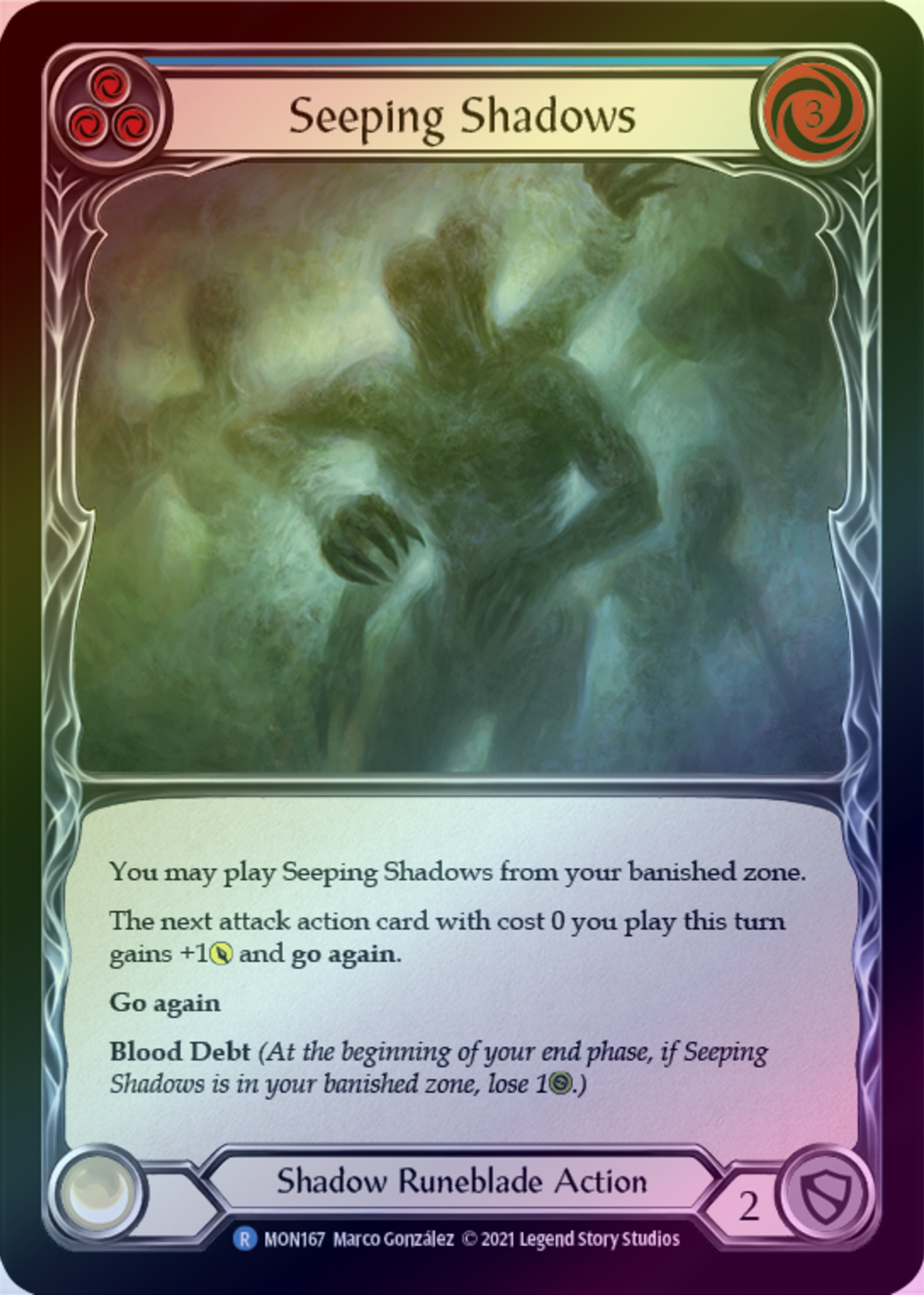 Flesh and Blood Seeping Shadows, MON167, Foil