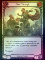 Flesh and Blood Plow Through (Yellow), MON114, Foil