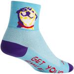 SockGuy Classic Grin Socks - 3 inch, Blue, Small/Medium
