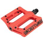 Deity Compound V2, Platform Pedals, Nylon Fiber Red