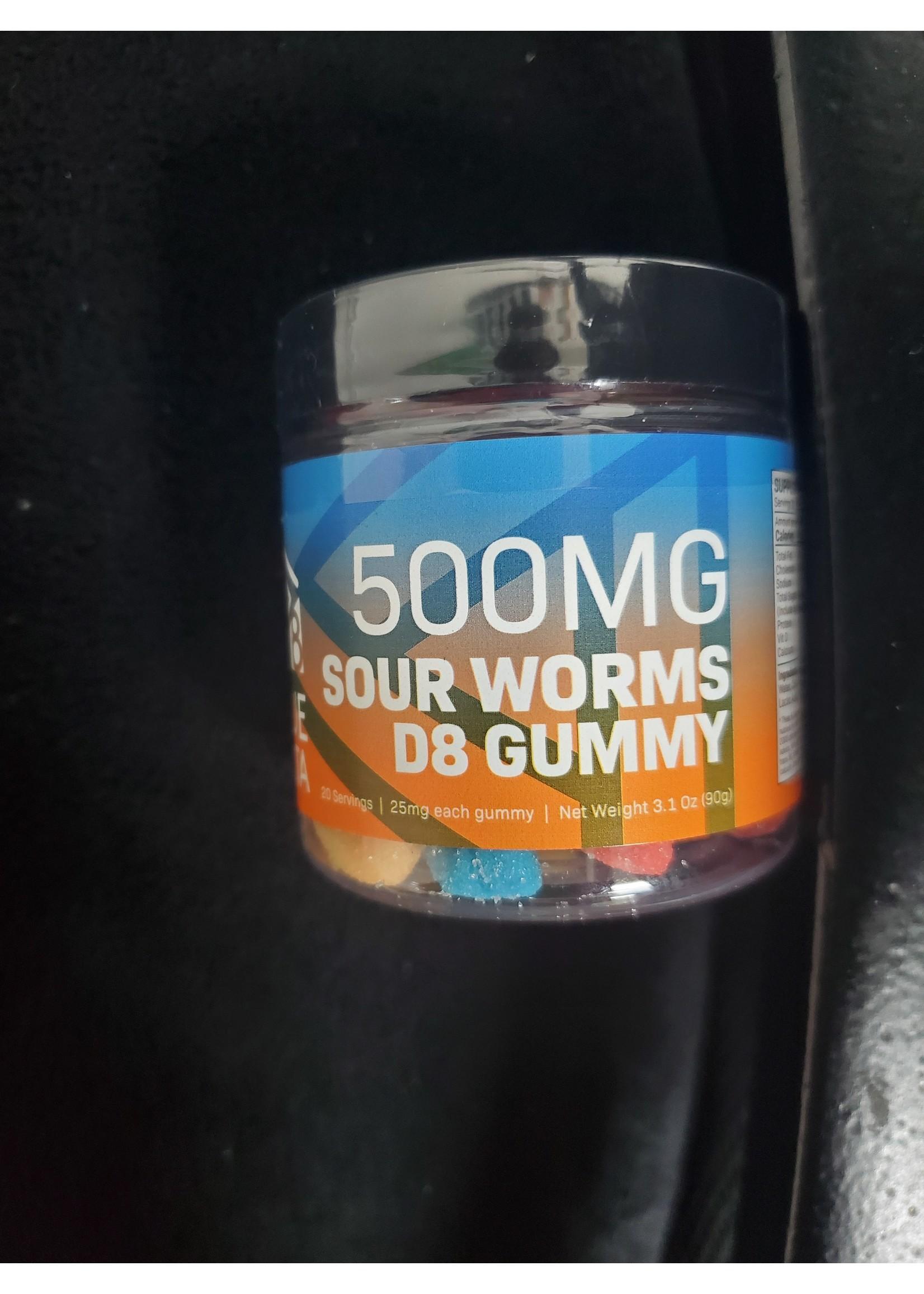 True Delta 500mg Delta 8 Sour Worms True Delta