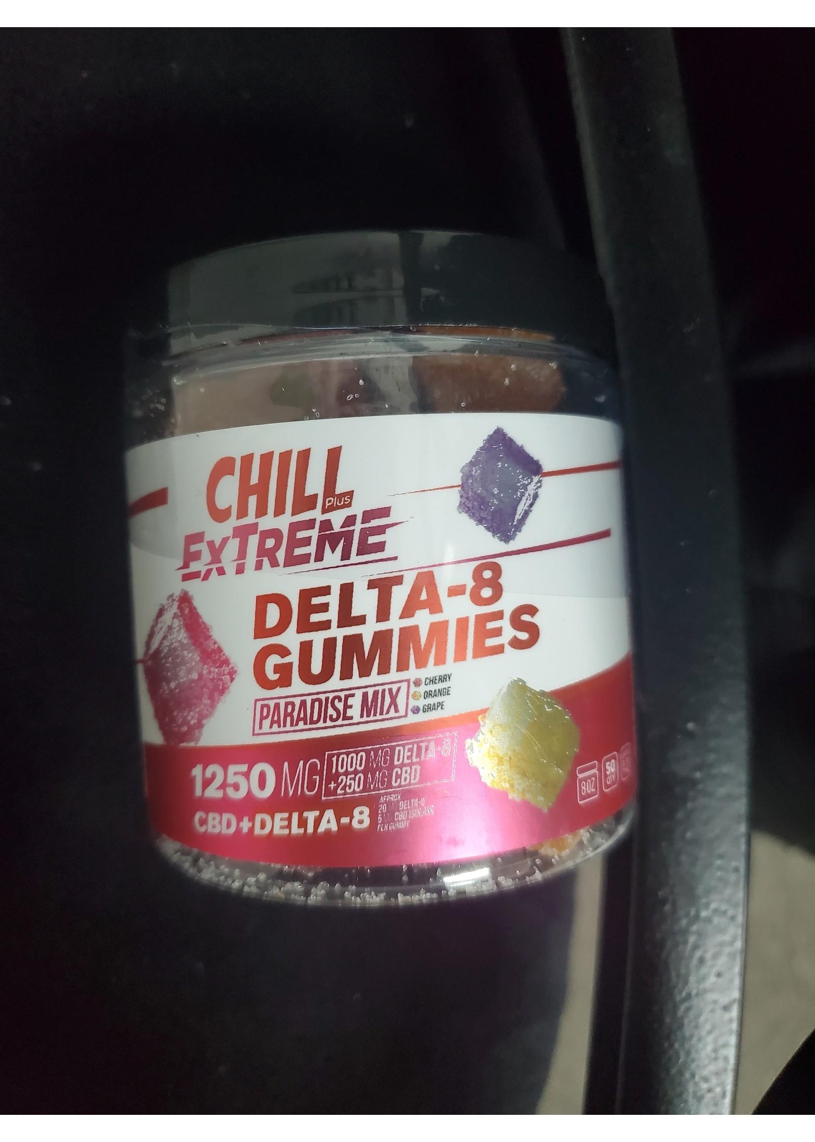 Chill 1250mg Delta 8 gummys 50pc Jar