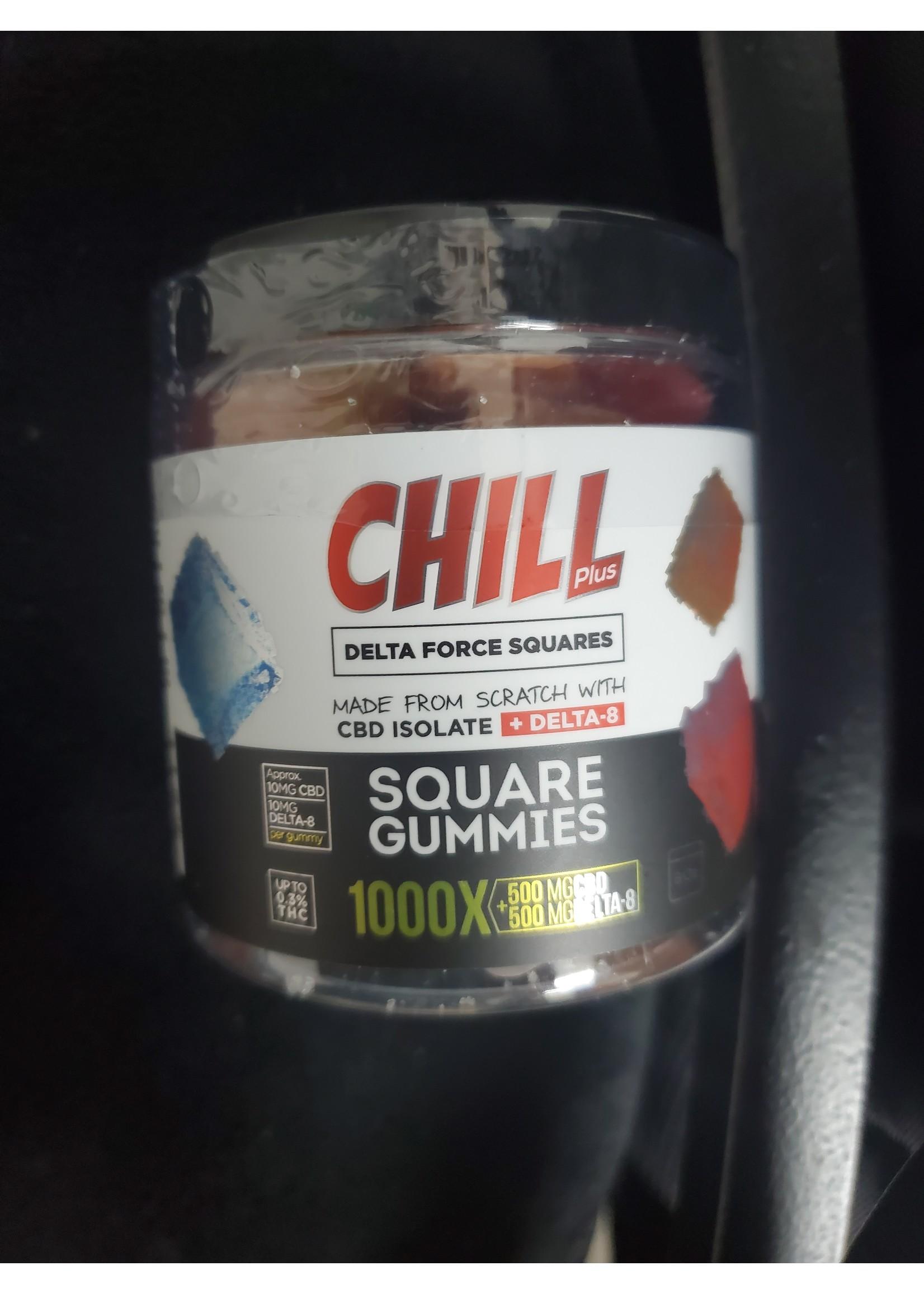 Chill 1000mg Delta 8 gummys 50pc Jar