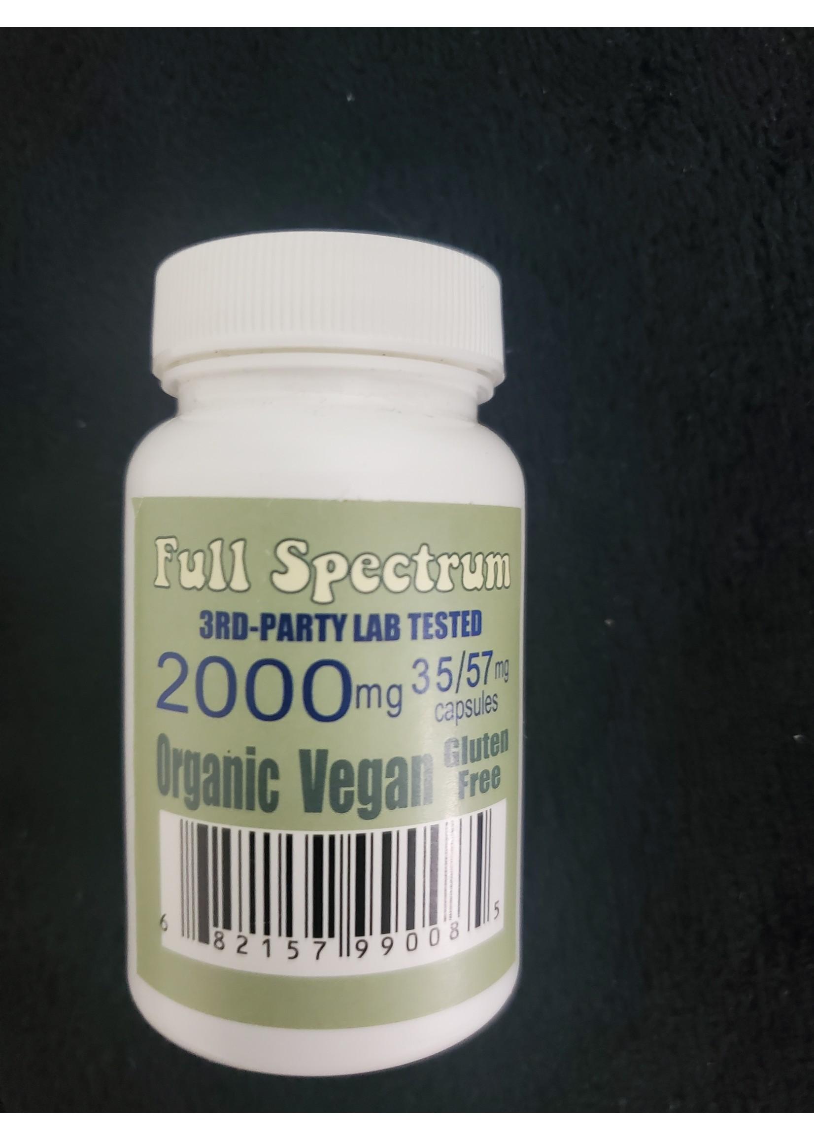 2000mg Full Spectrum CBD Flower Capsules