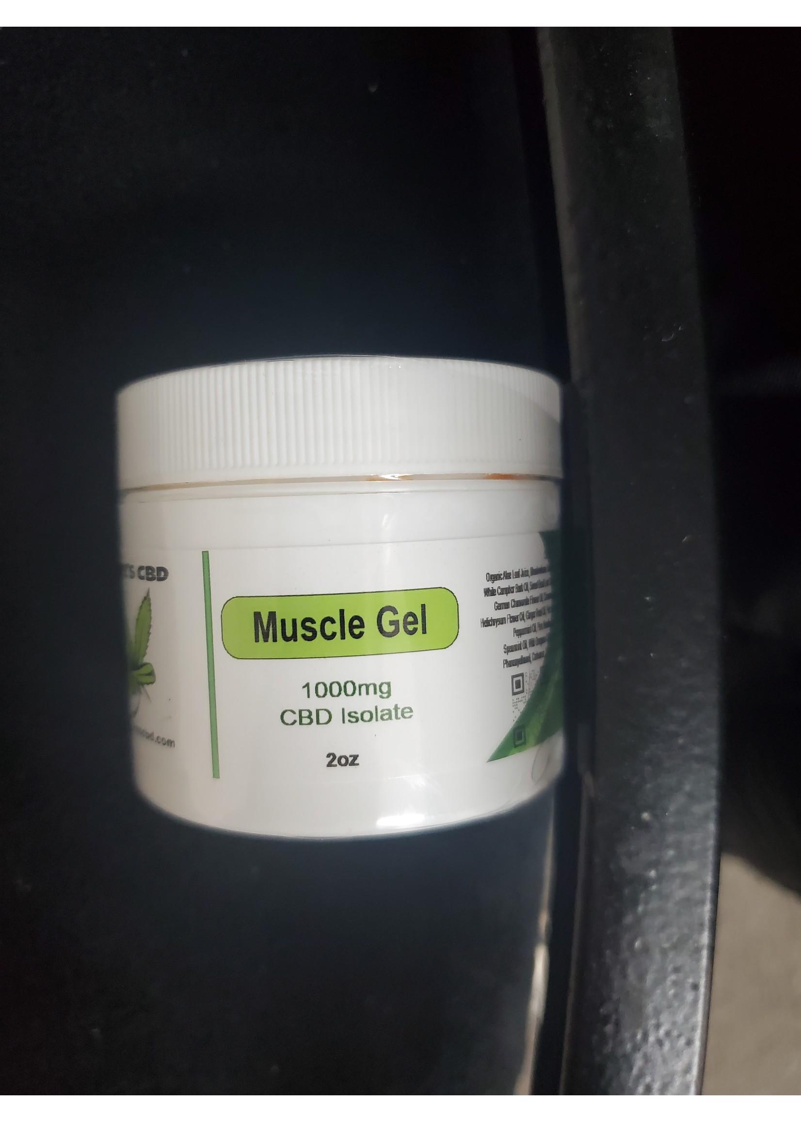 Rowe's CBD 1000mg CBD Isolate Muscle Gel