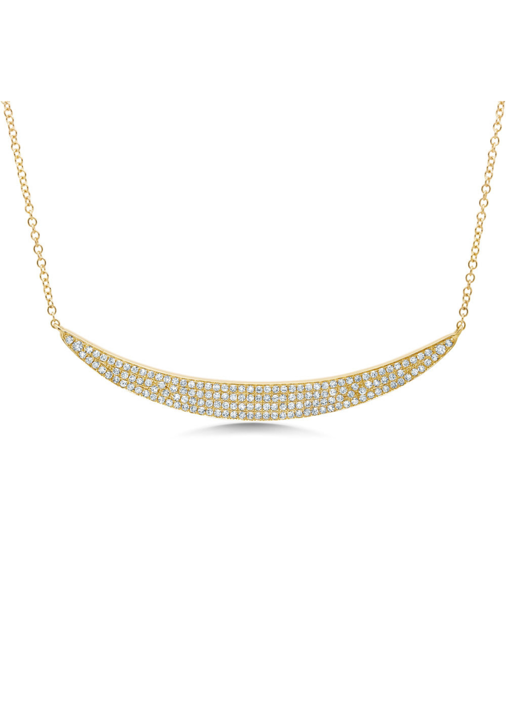 Jill Alberts Large Pave Diamond Crescent Necklace