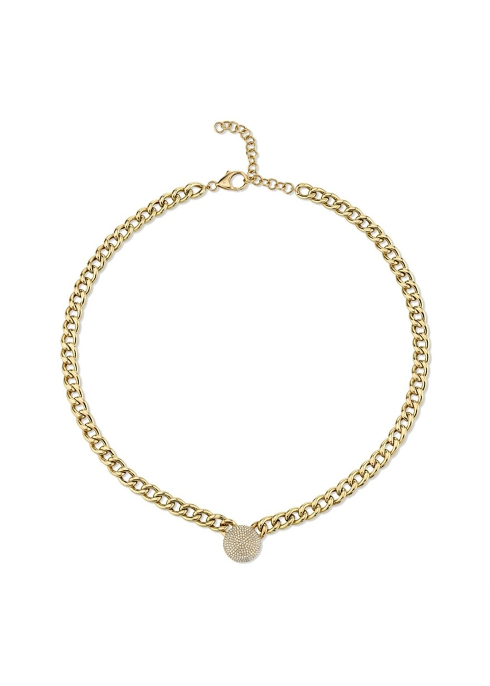Jill Alberts Diamond Pave Chain Necklace