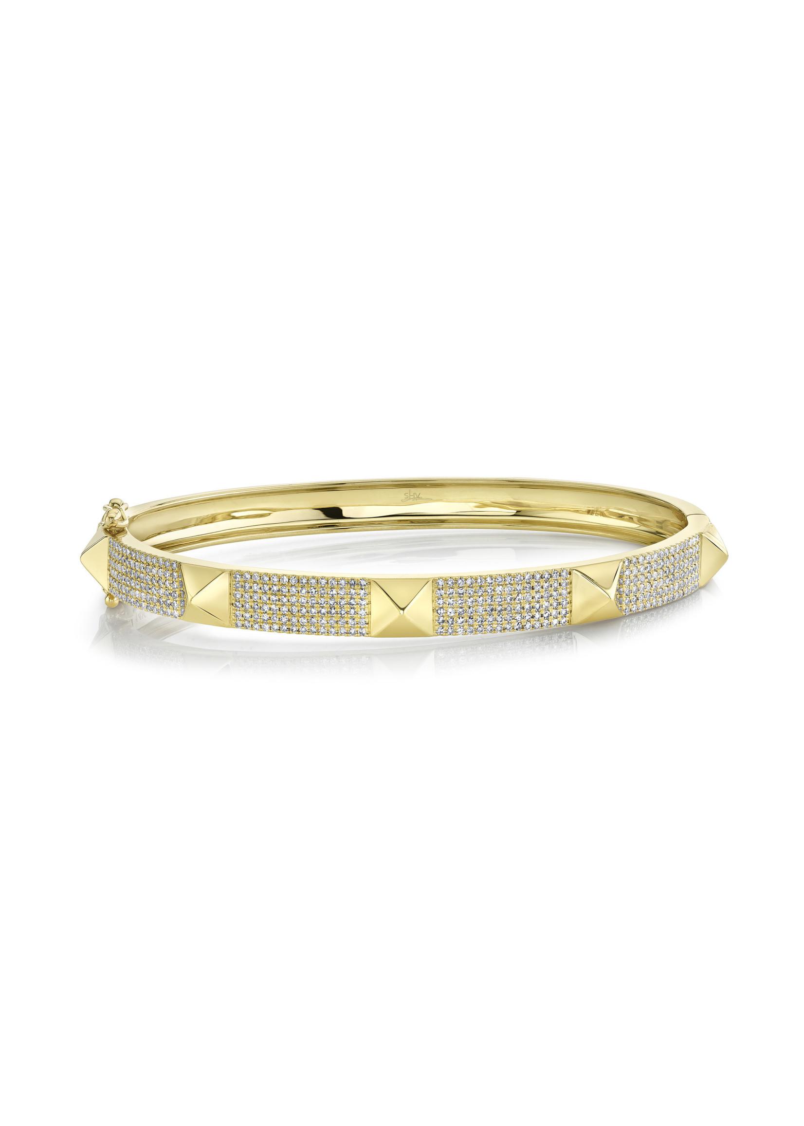 Jill Alberts  Diamond Pave Spike Bracelet