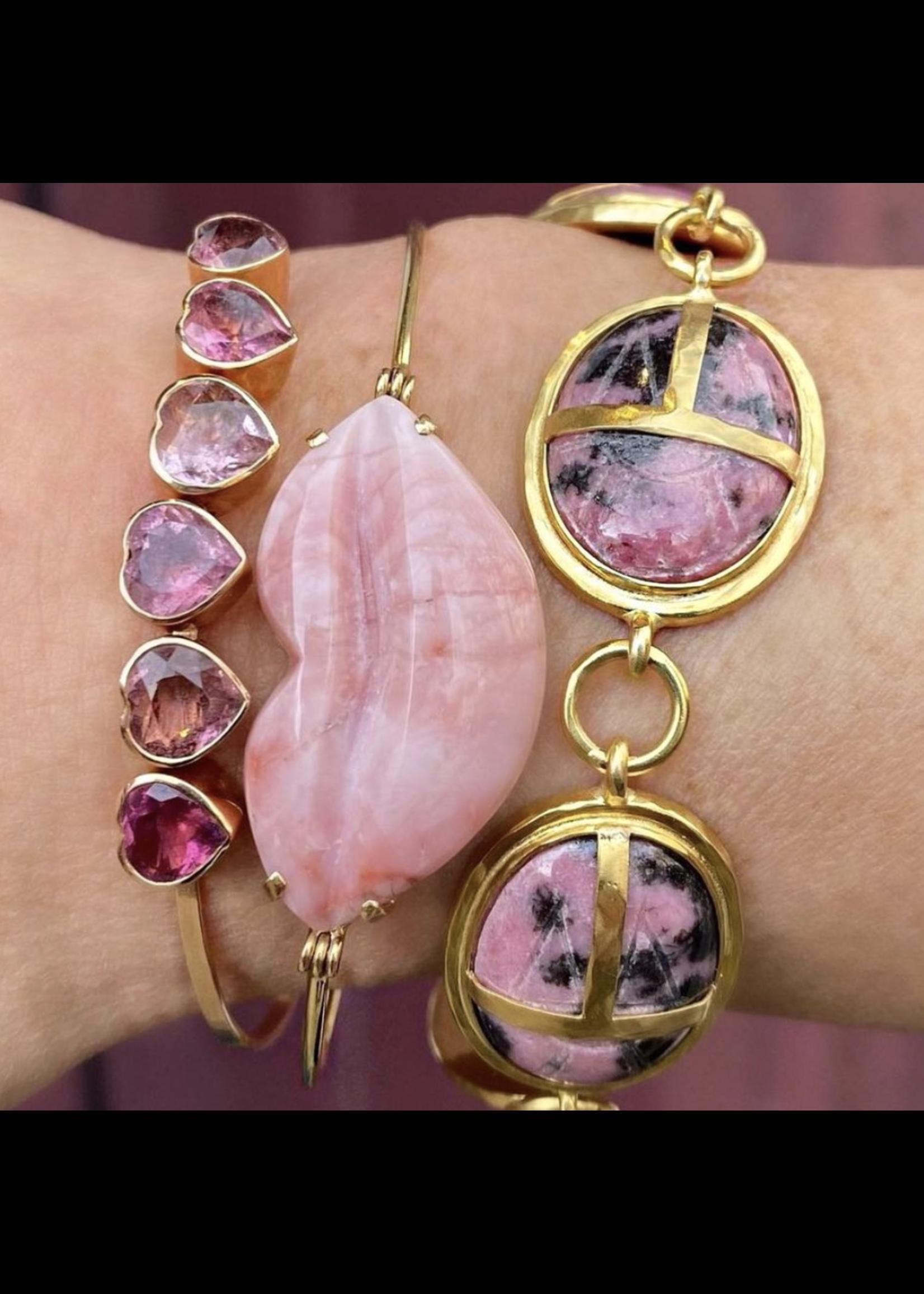 Christina A. Alexiou Pink Opal Lips Bracelet