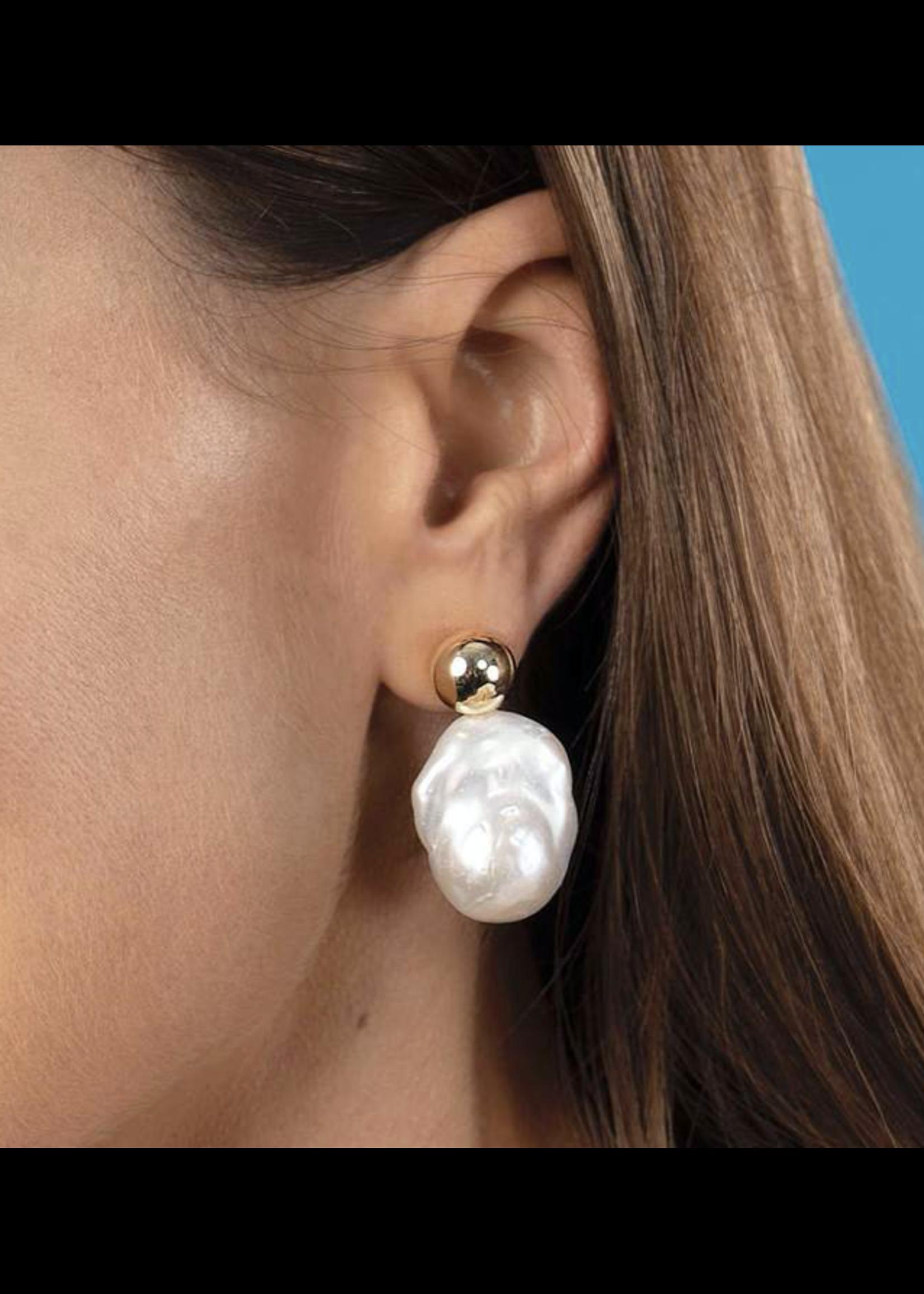 Jaimie Nicole Baller Pearl Earrings
