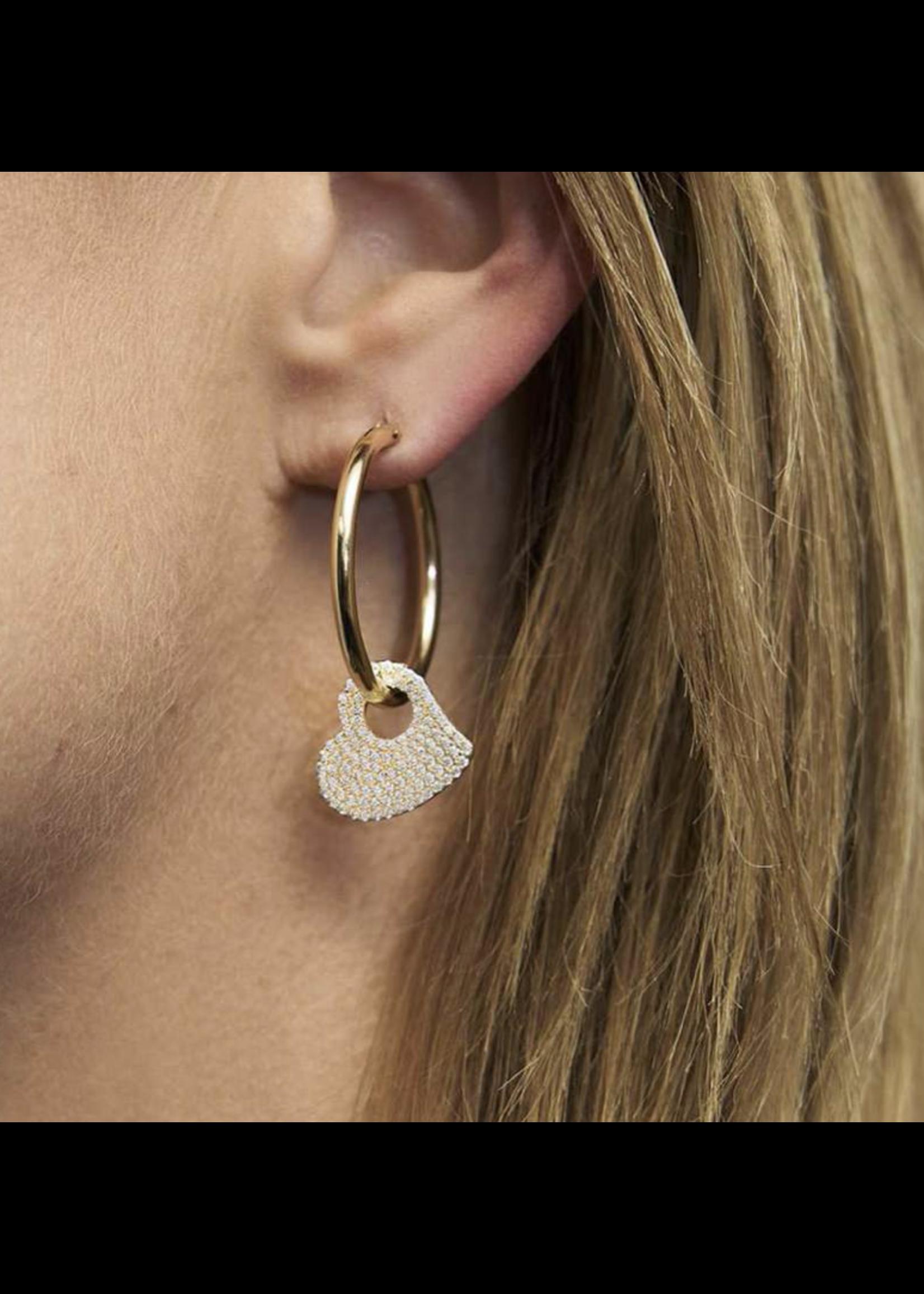Jaimie Nicole Crazy in Love Heart & Star Hoop Earrings