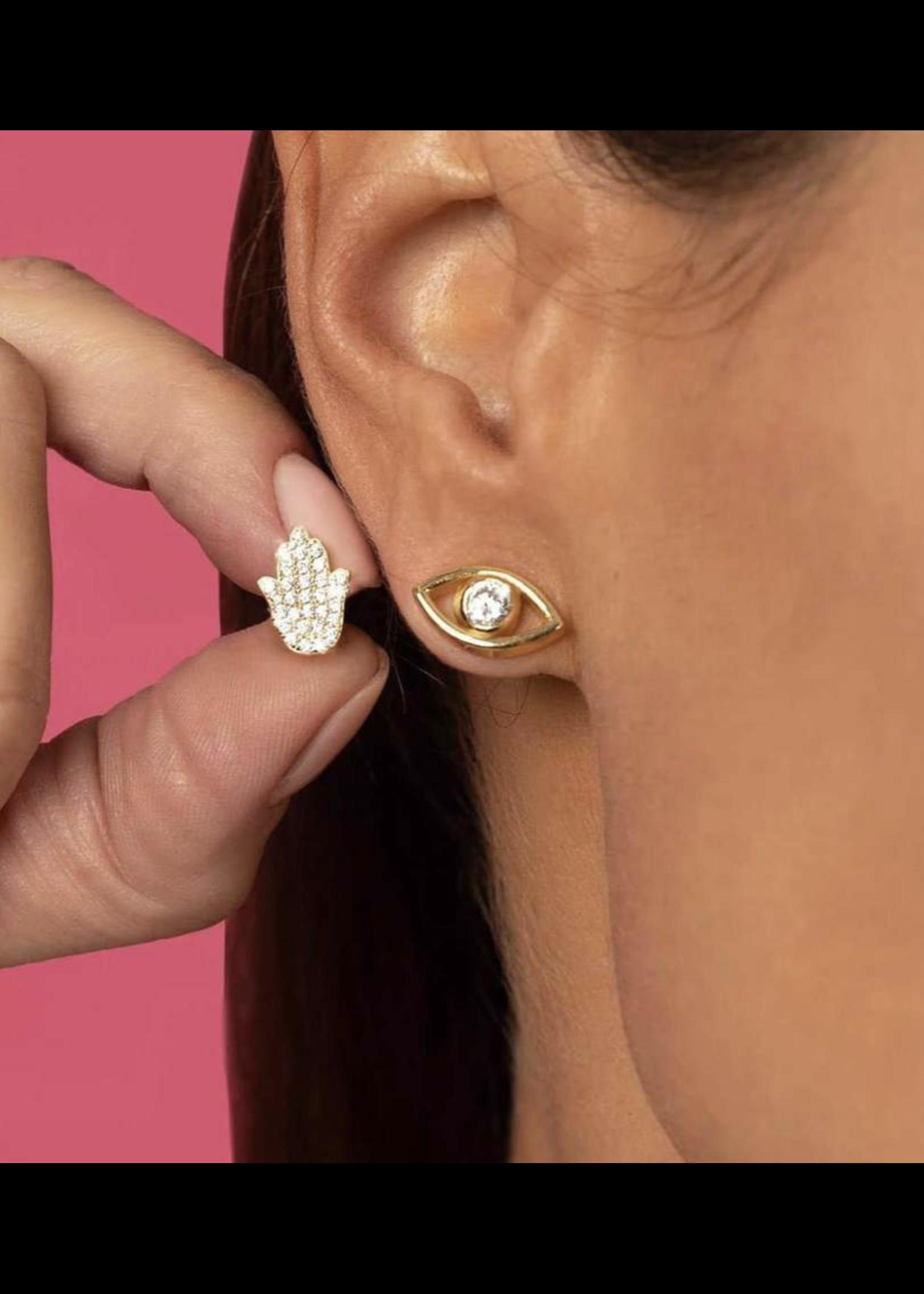 Jaimie Nicole See No Evil Stud Earrings