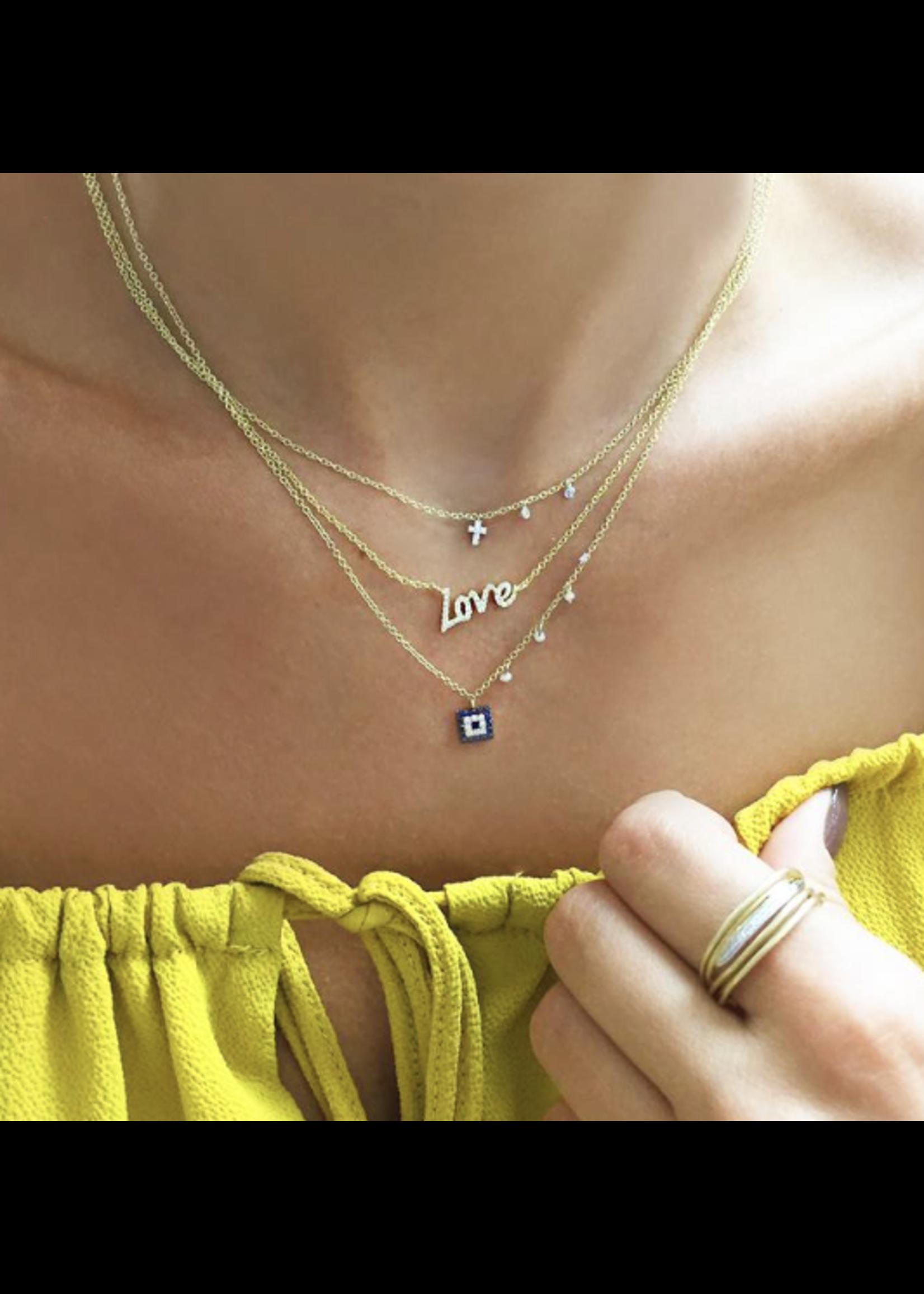 Meira T Dainty Diamond Cross Necklace