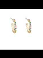 Zoe Chicco Small Huggie Rainbow Sapphires