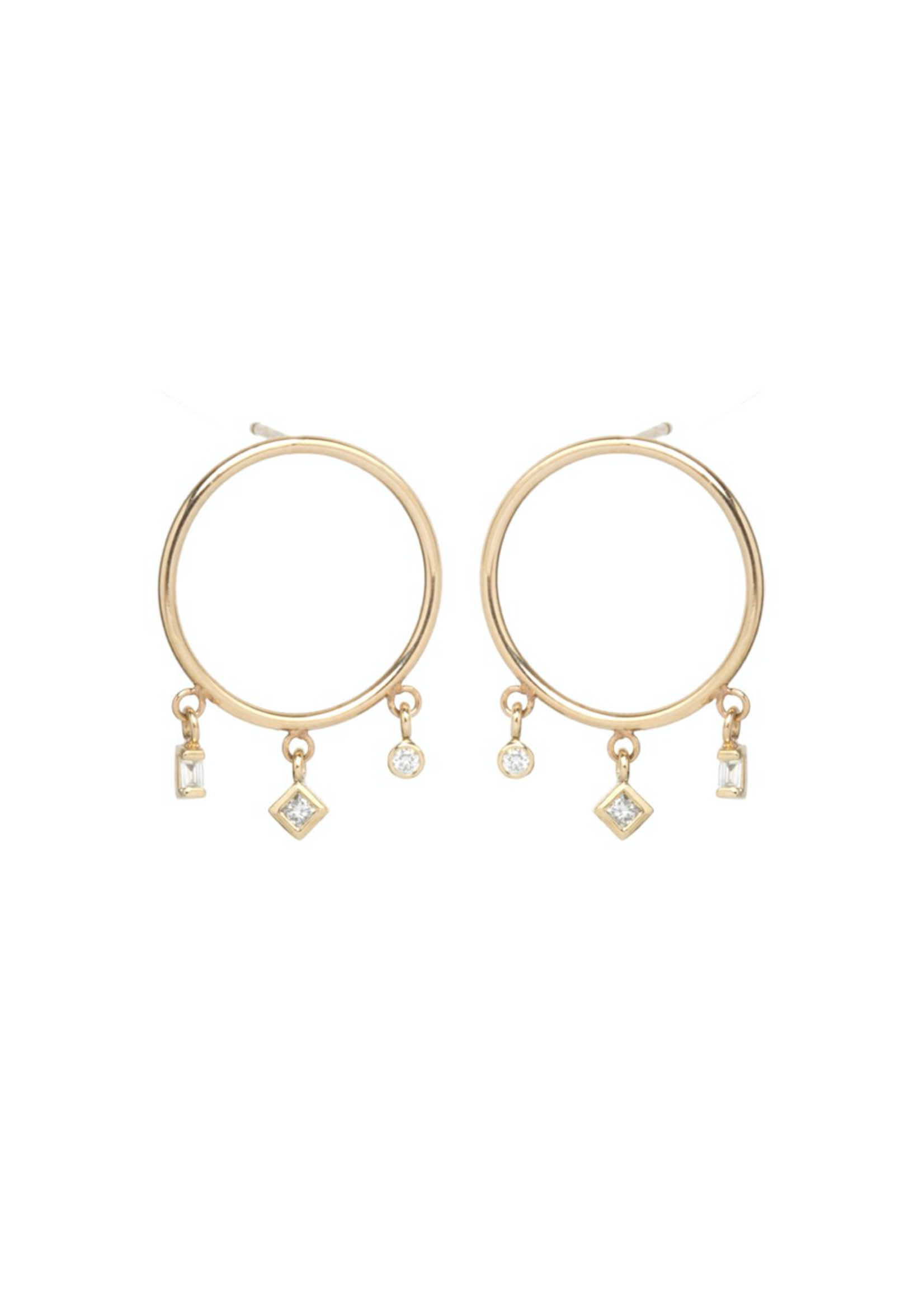 Zoe Chicco 14K Gold Small Circle Earrings
