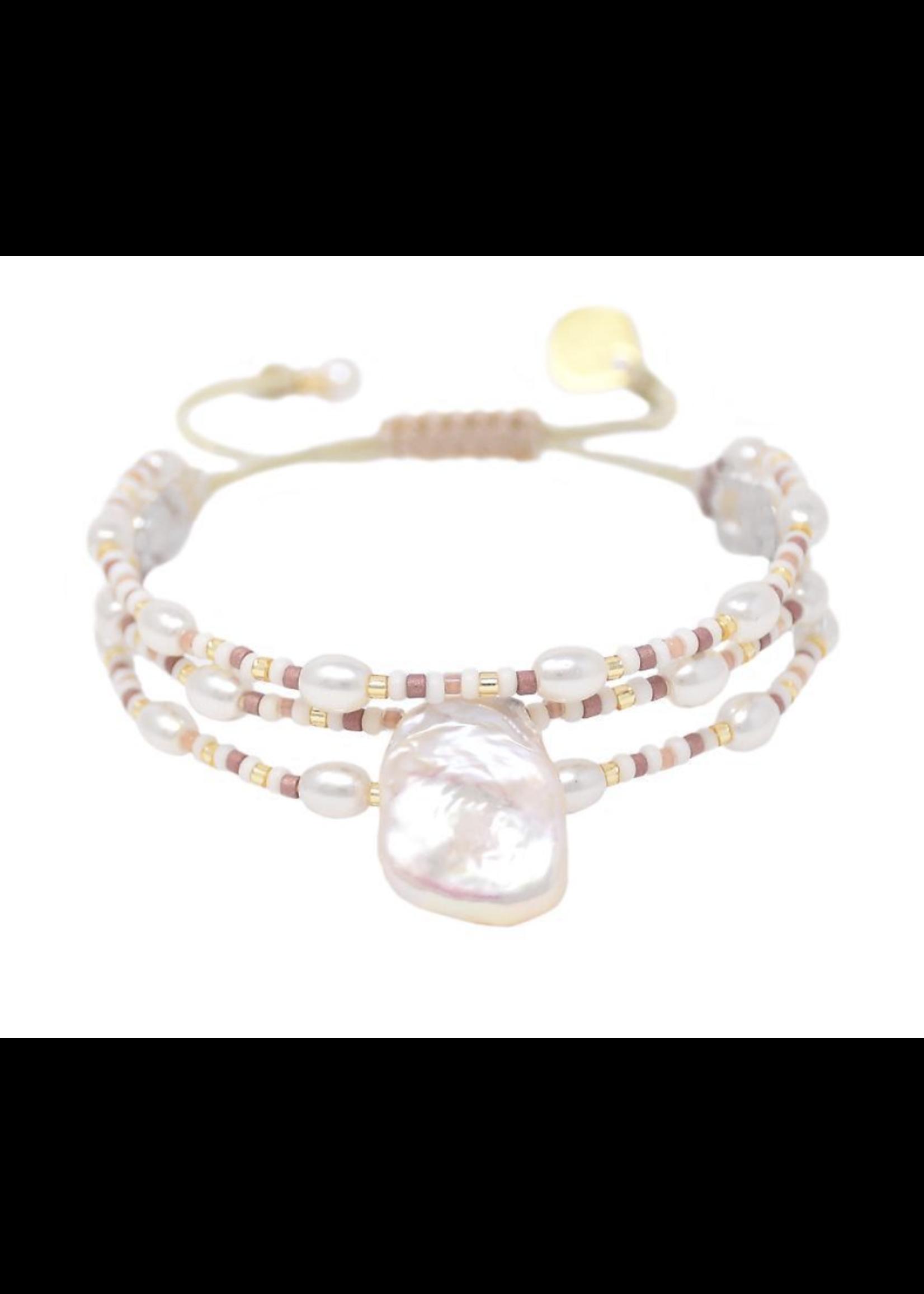 Mishky Pink Maya Pearl Bracelet
