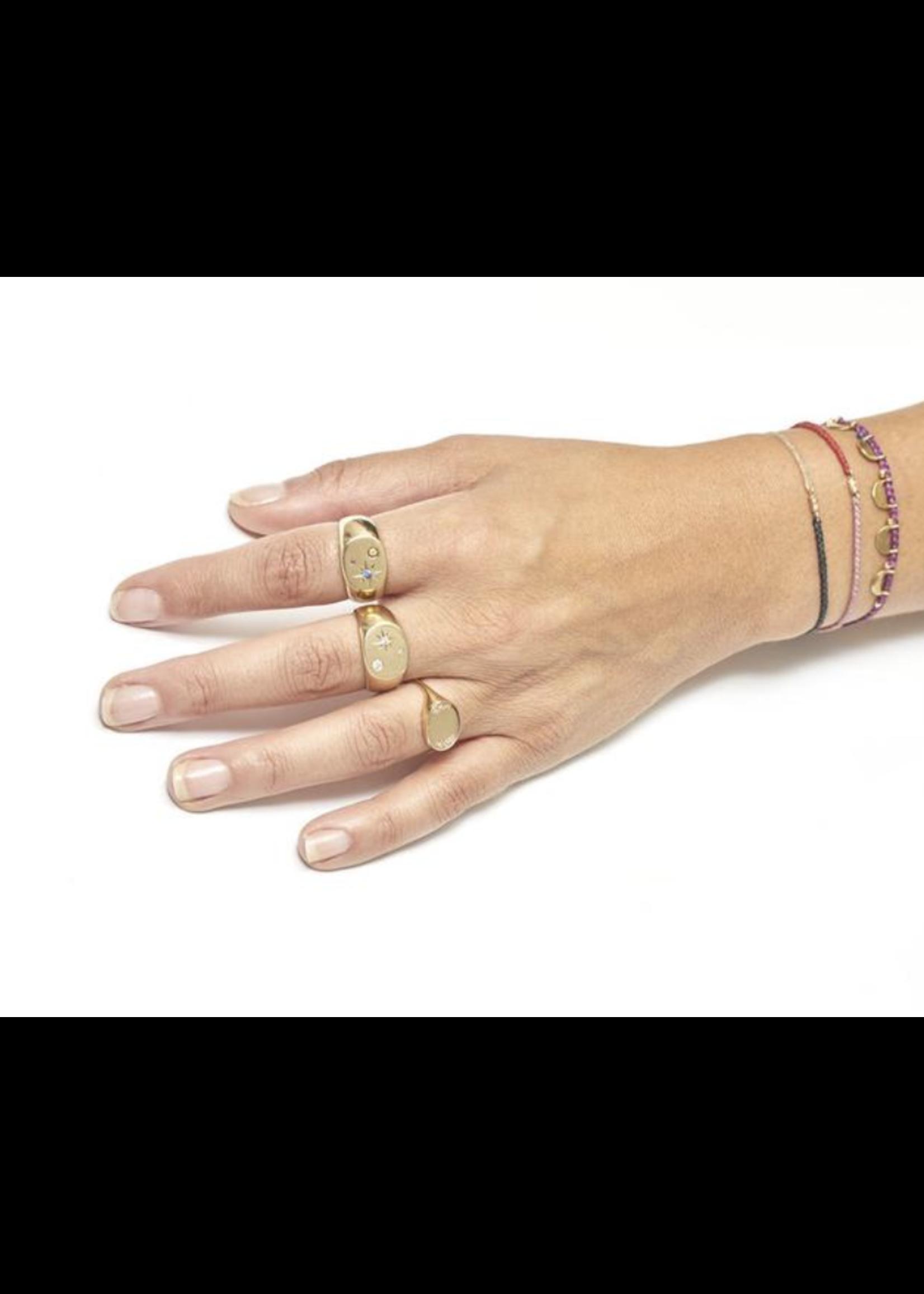 SCOSHA Oval Signet Ring in Gold
