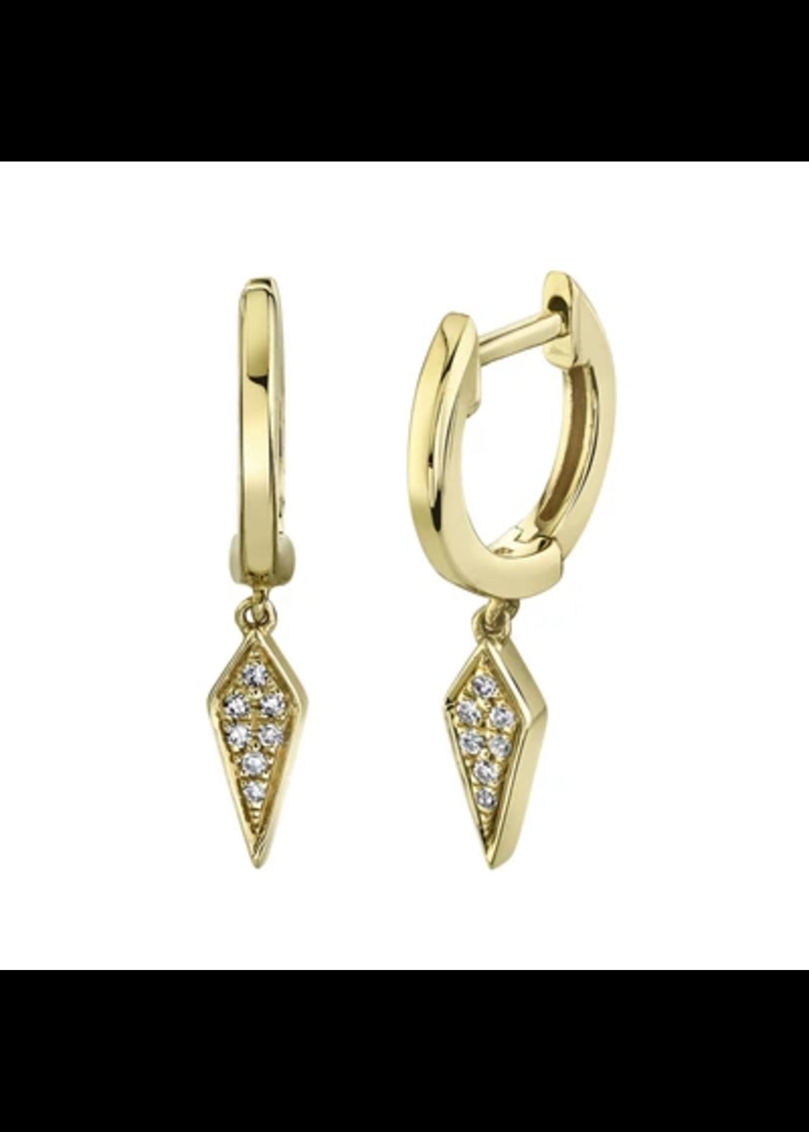 Jill Alberts Diamond Spike Huggie Earrings