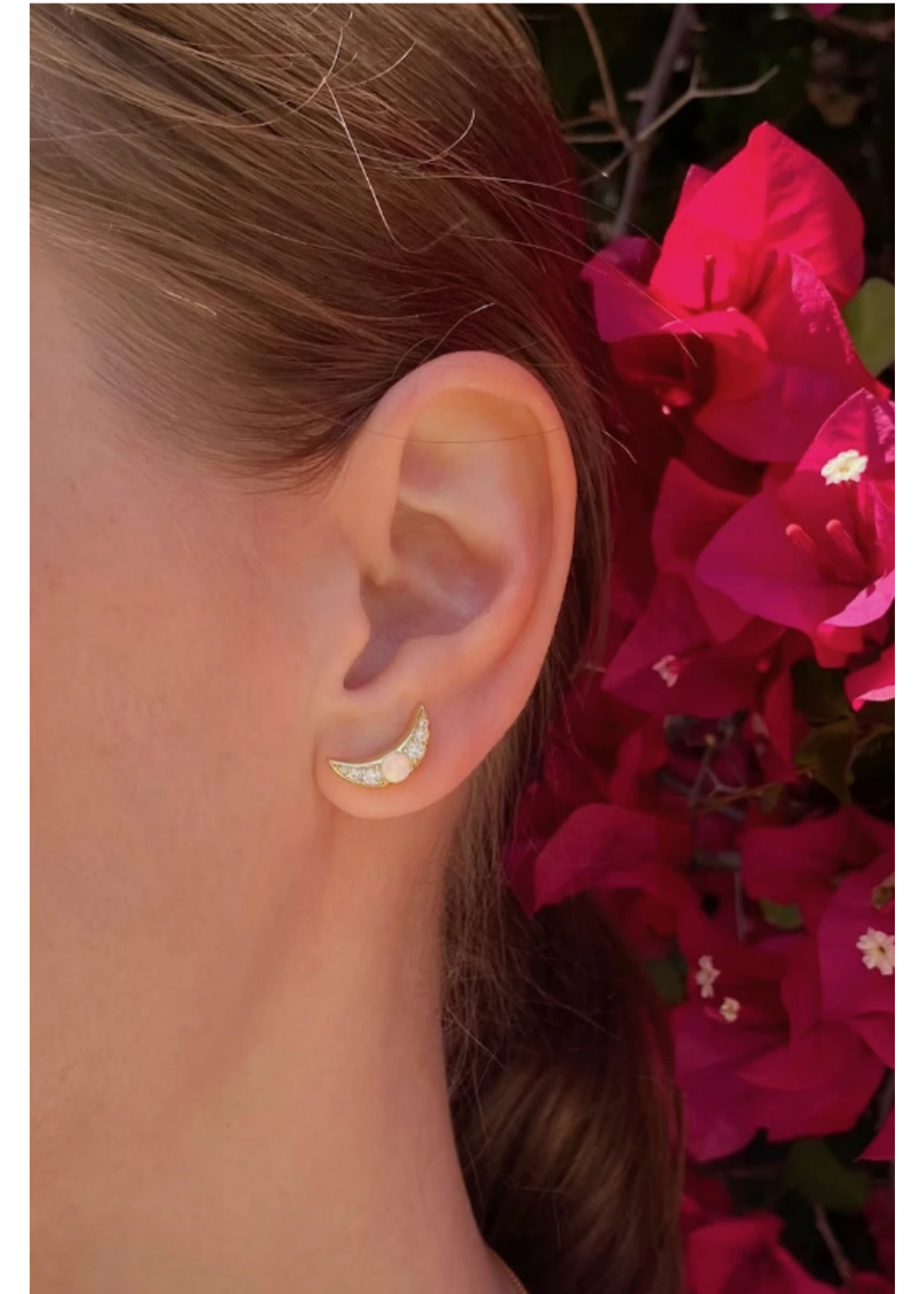 Native Gem Galactic Opal Stud Earrings
