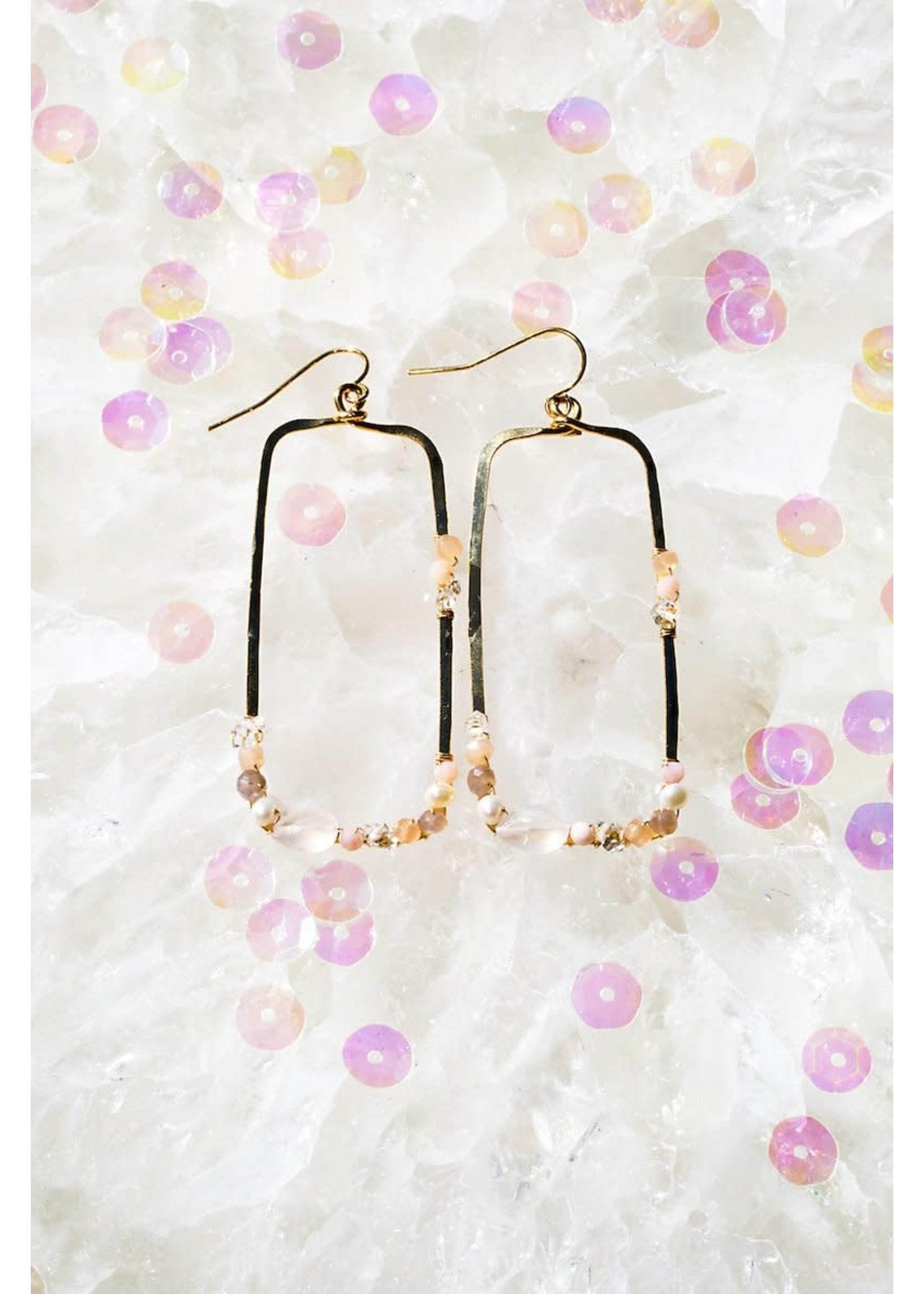 Native Gem Fairy Dust Rectangle Earrings