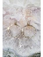Native Gem Fairy Dust Circle Earrings
