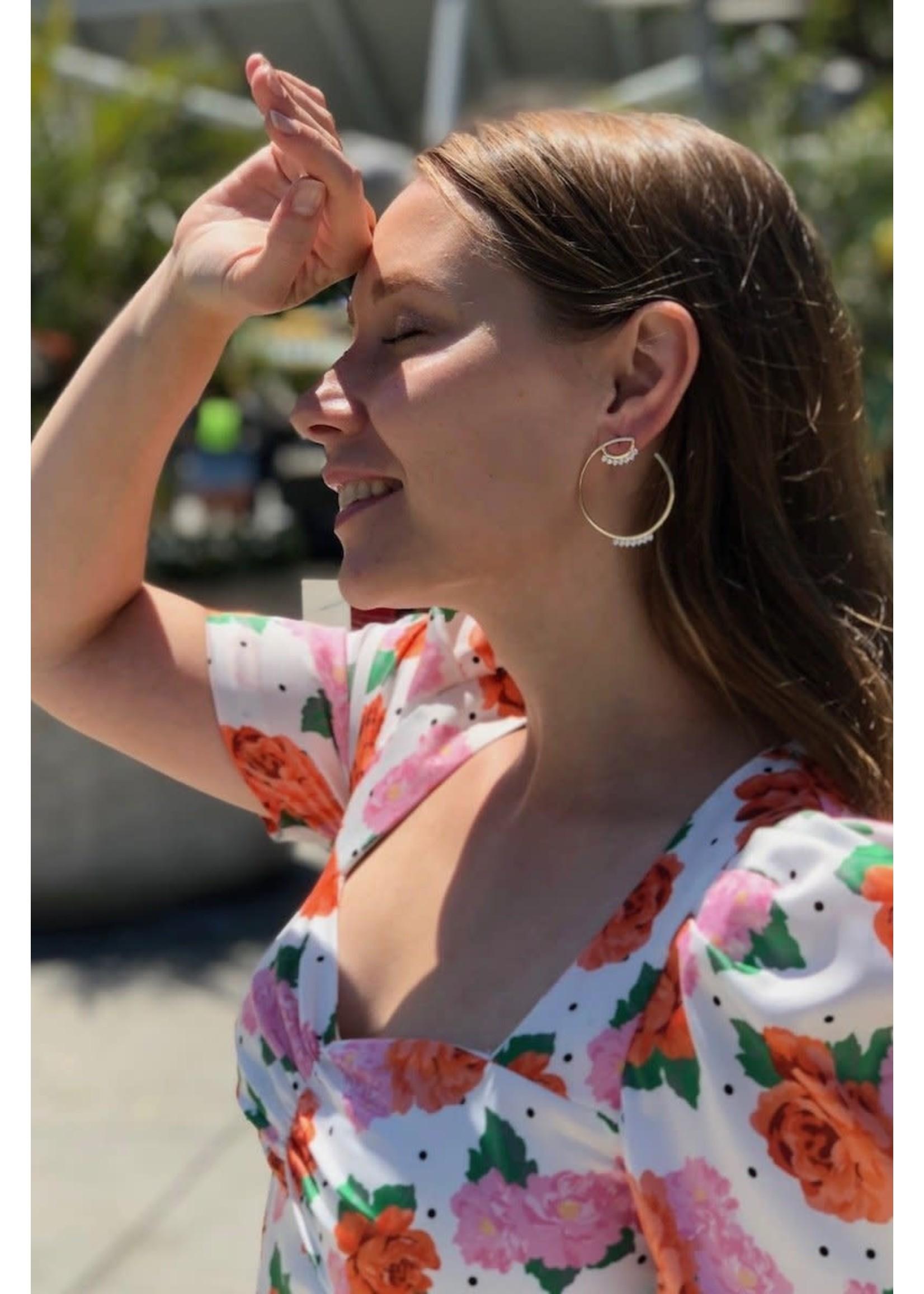 Native Gem Gemma Hoop Earrings