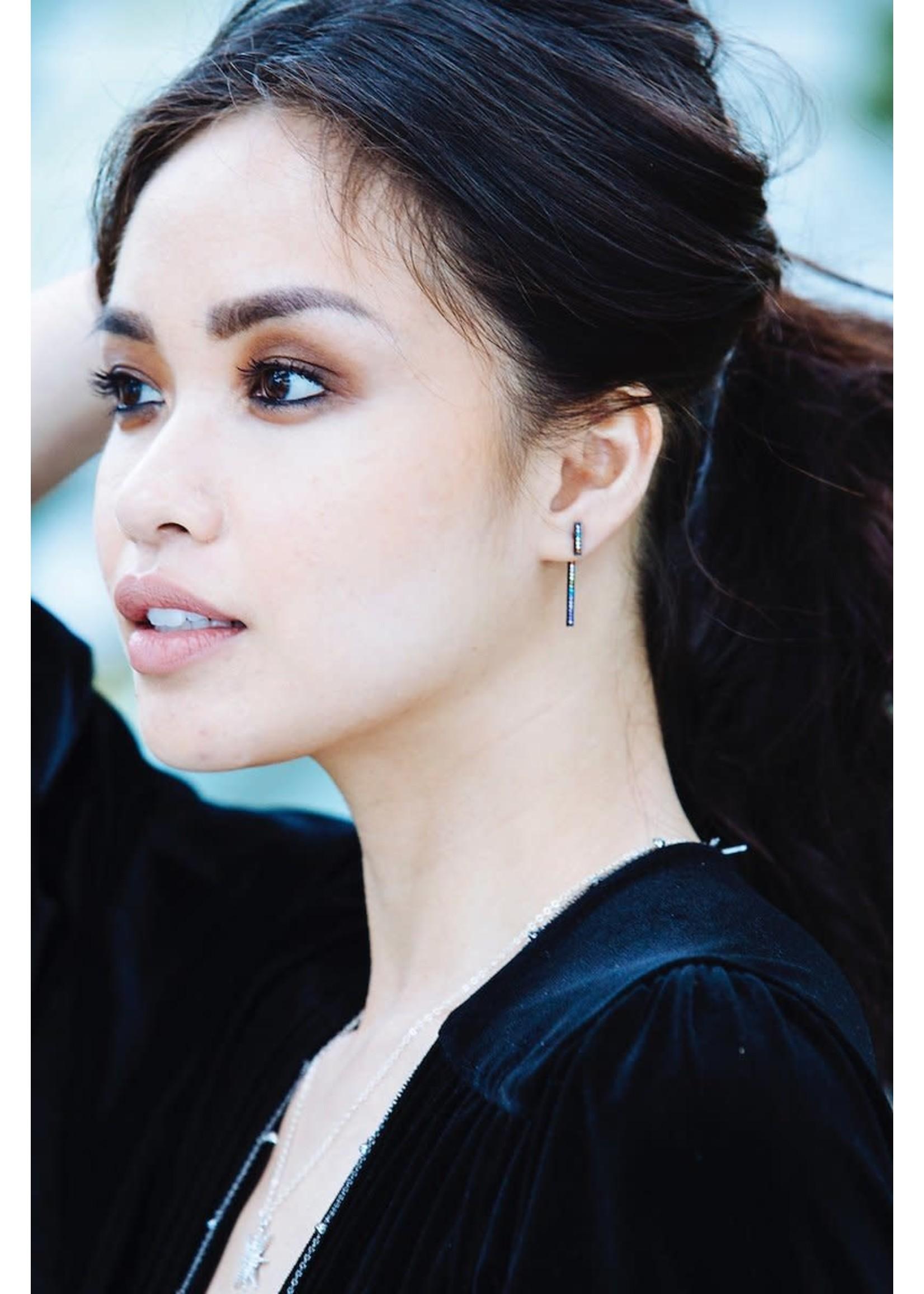 Native Gem Secrets Black Rainbow Earrings