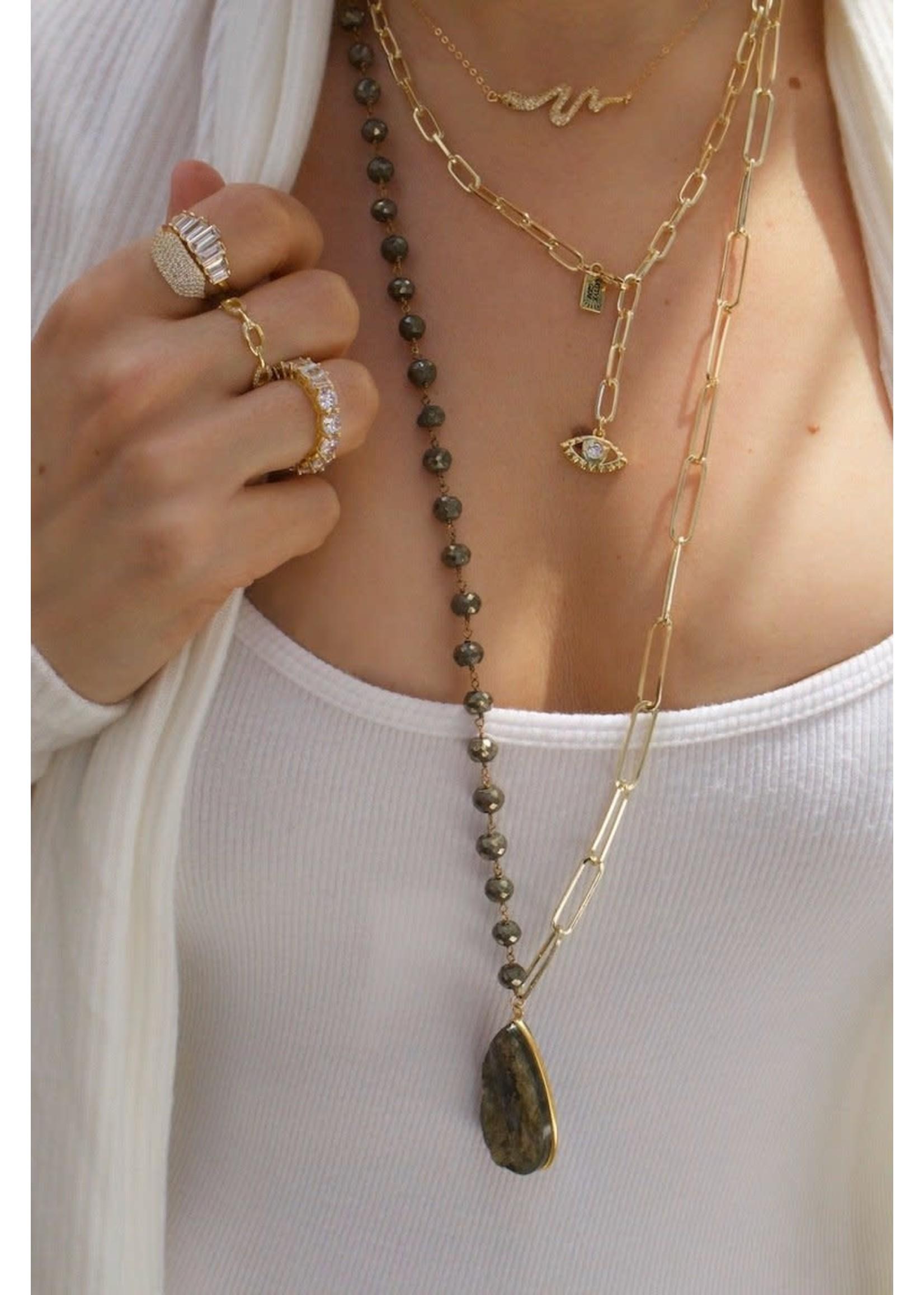 Native Gem Snake Charmer Necklace