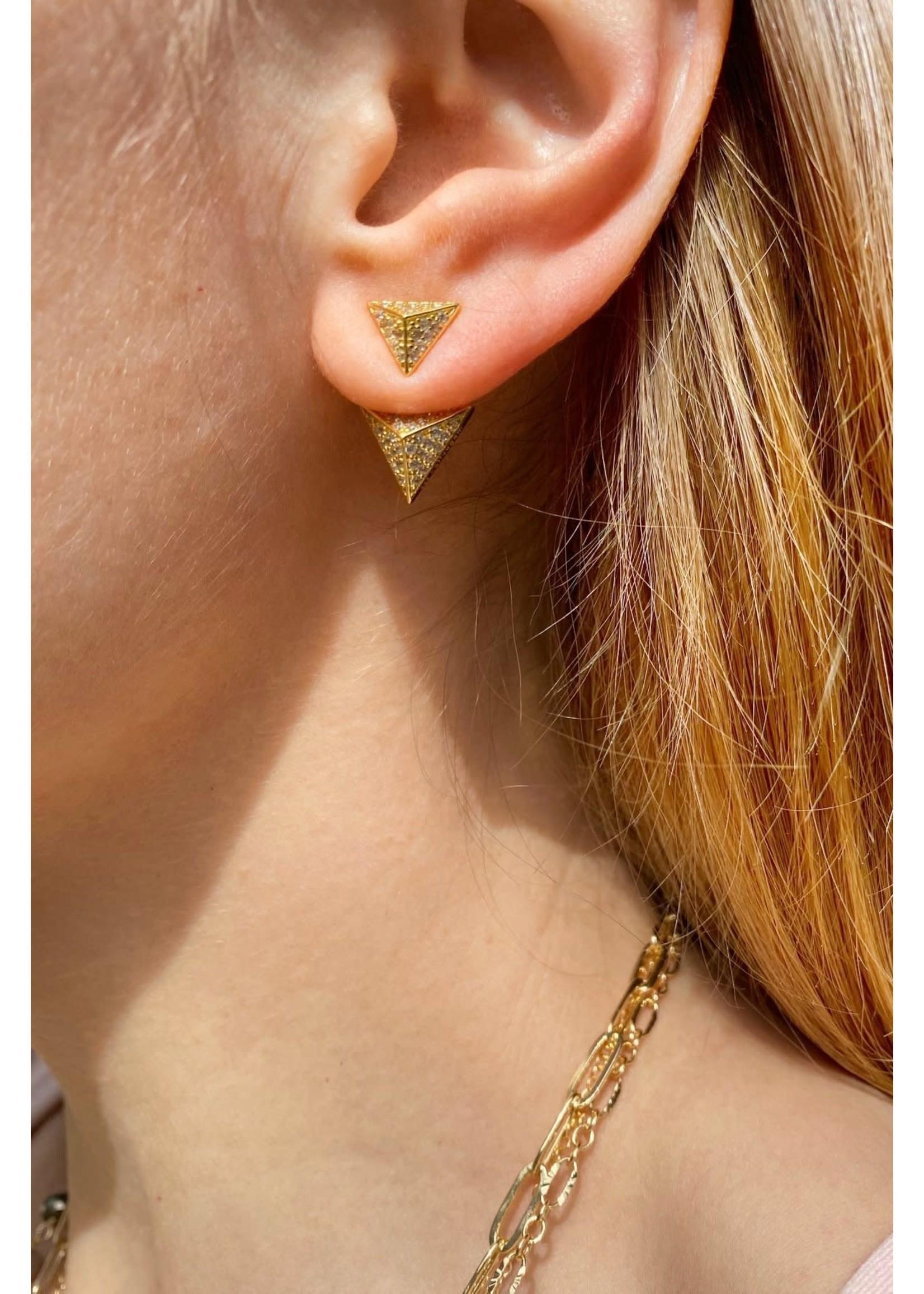 Native Gem Armor Pyramid Earrings