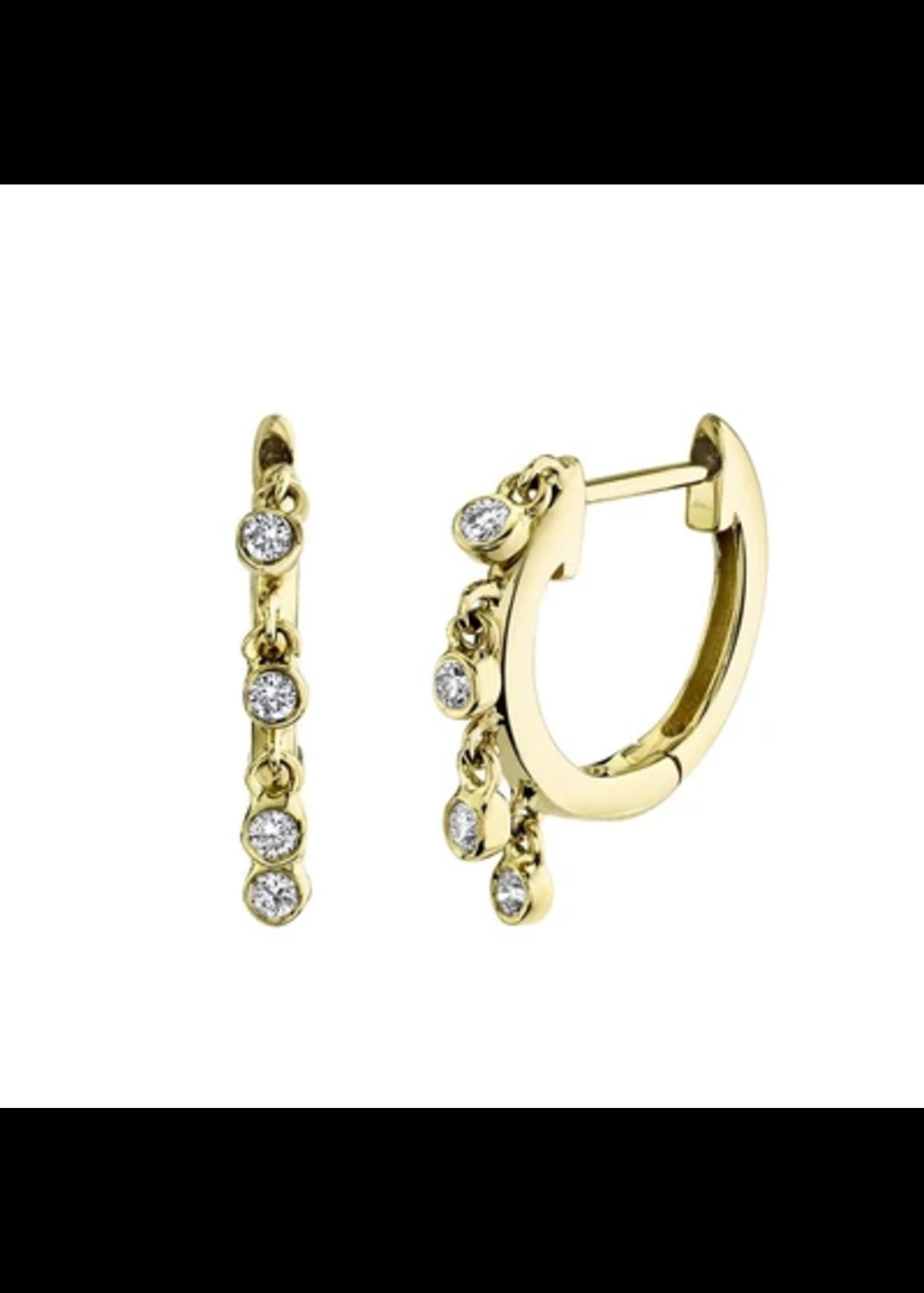 Jill Alberts  Diamond Bezel Huggie Earrings