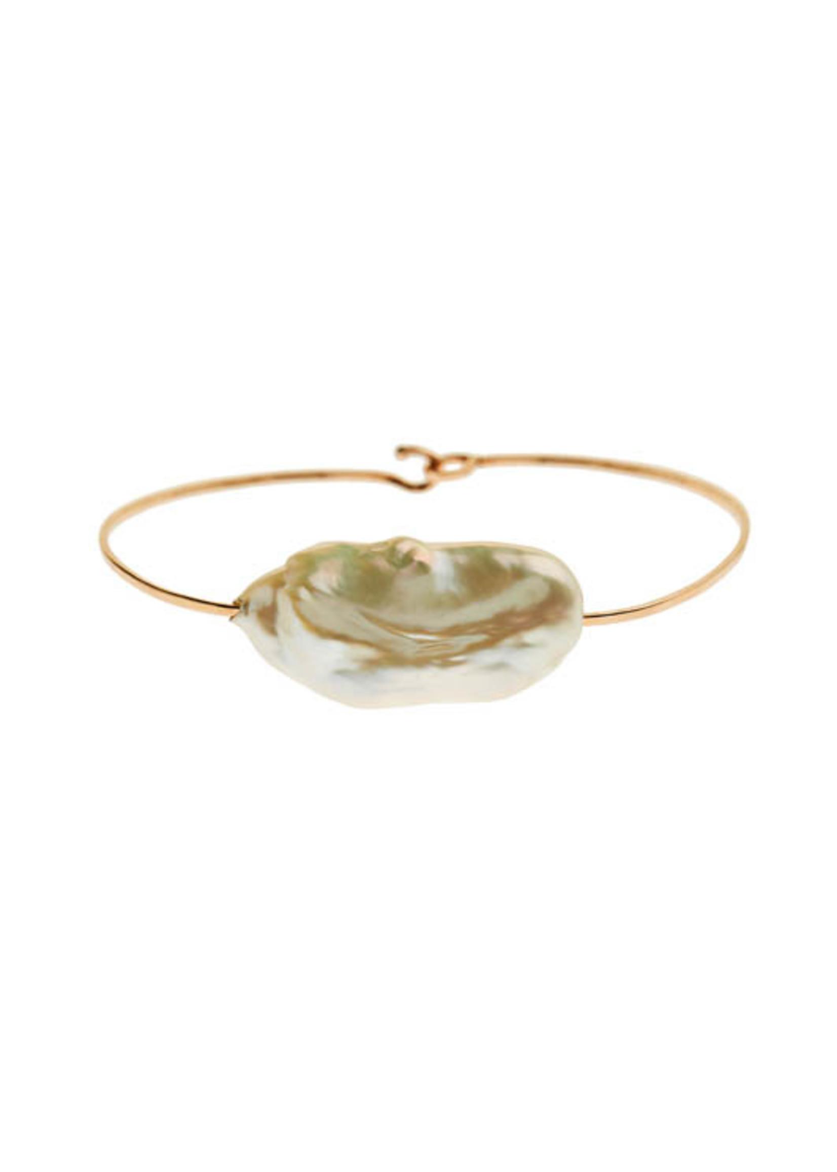 Christina A. Alexiou Large Pearl Wire Bracelet