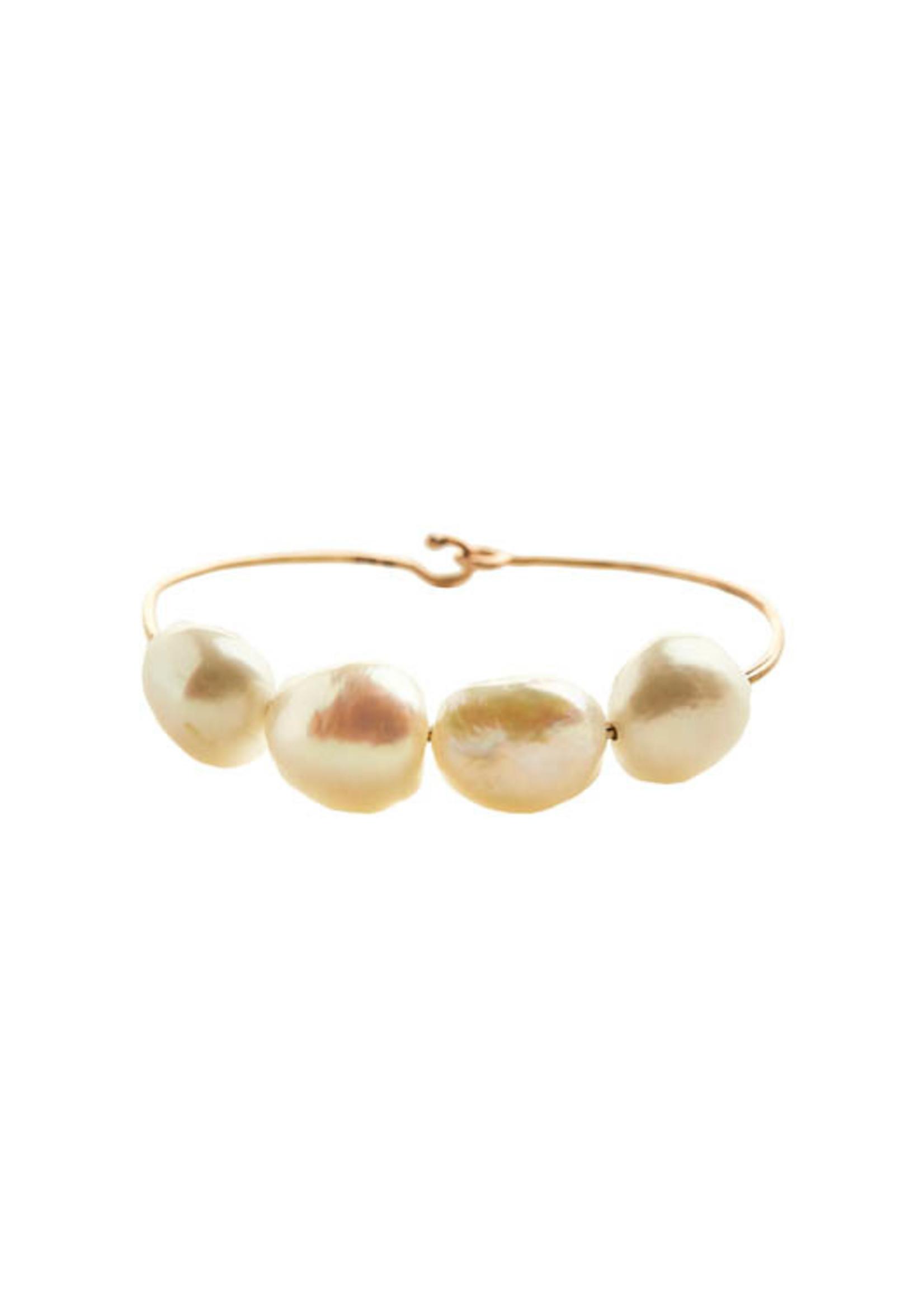 Christina A. Alexiou Four Pearl Wire Bracelet