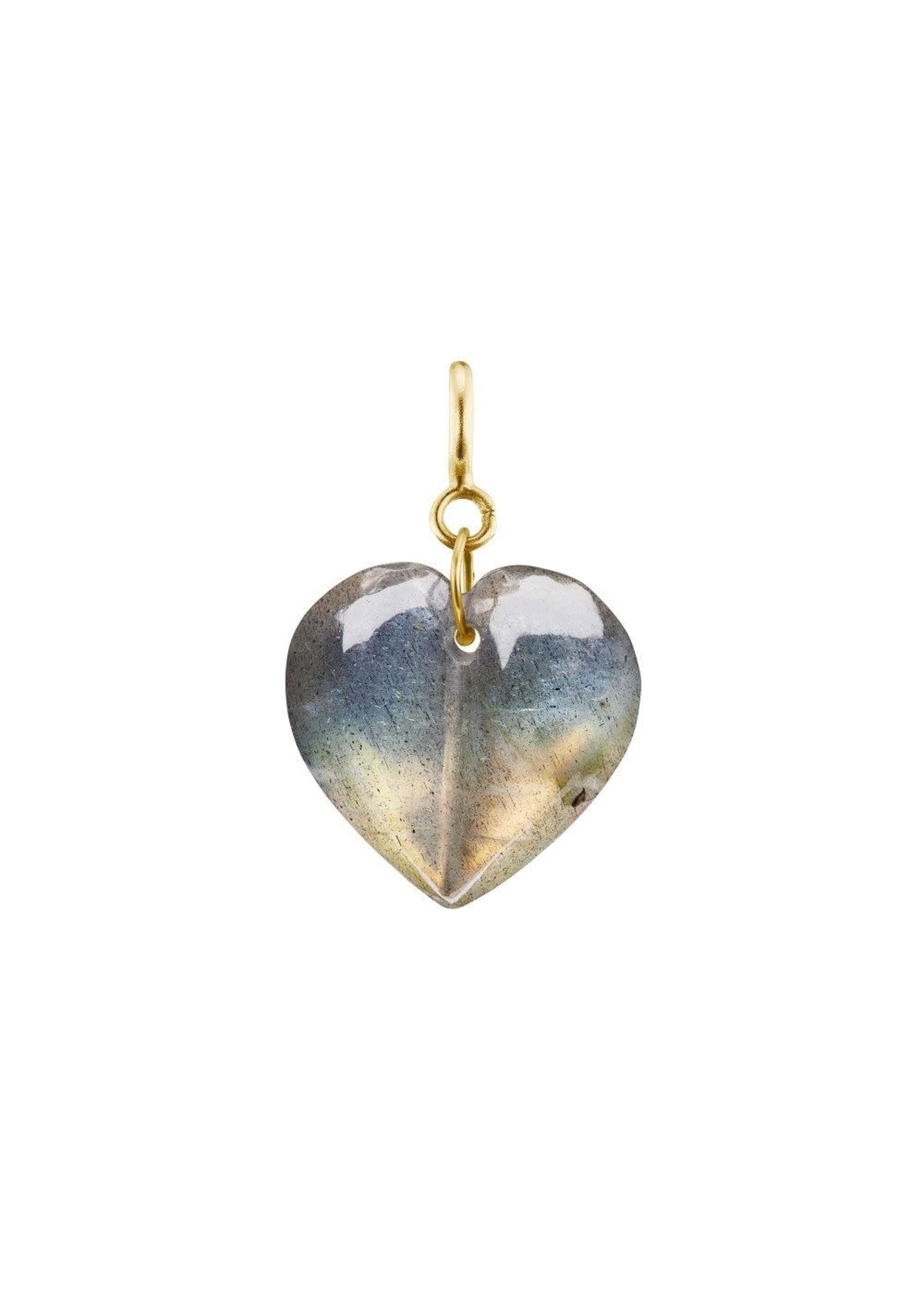 Ten Thousand Things Mini Split Labradorite Heart Charm