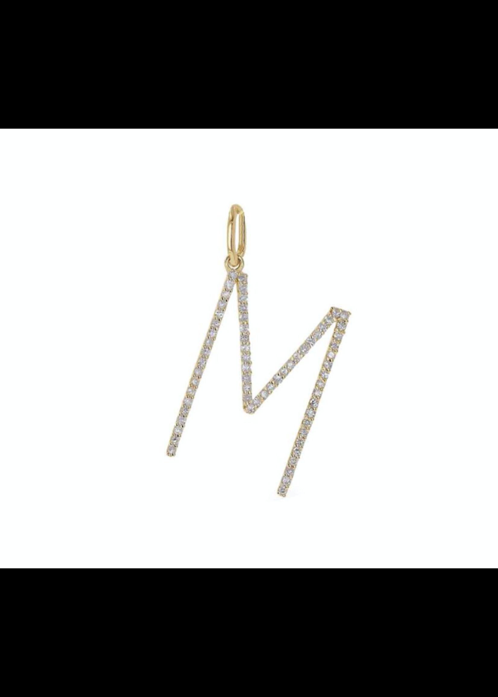 Rachel Reid  Oversized Diamond Letter Charm
