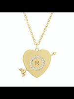 Rachel Reid Personalized Heart & Arrow Necklace