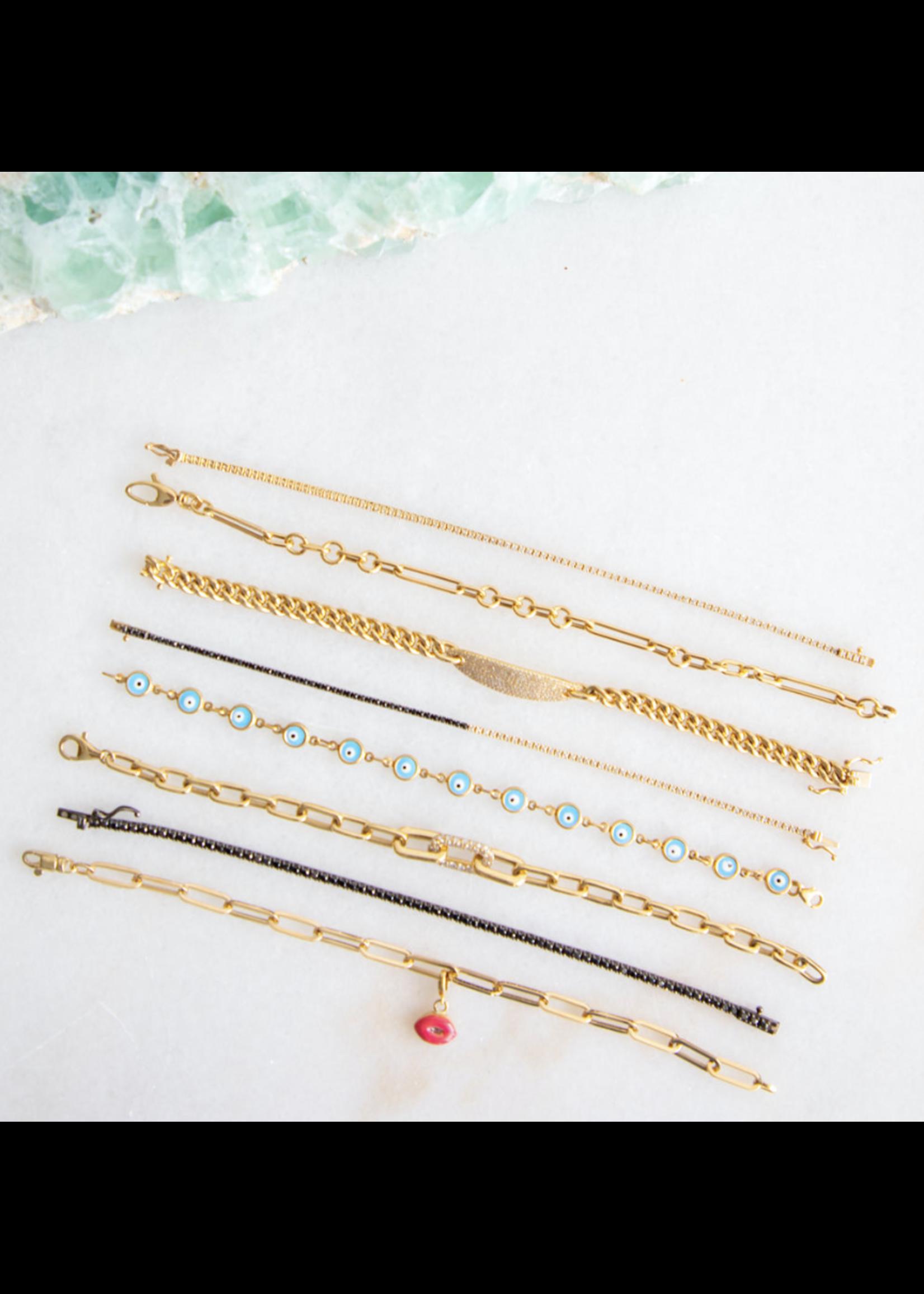 Jill Alberts Diamond Pave Chain Bracelet
