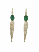 Jill Alberts Emerald & Diamond Drop Earrings