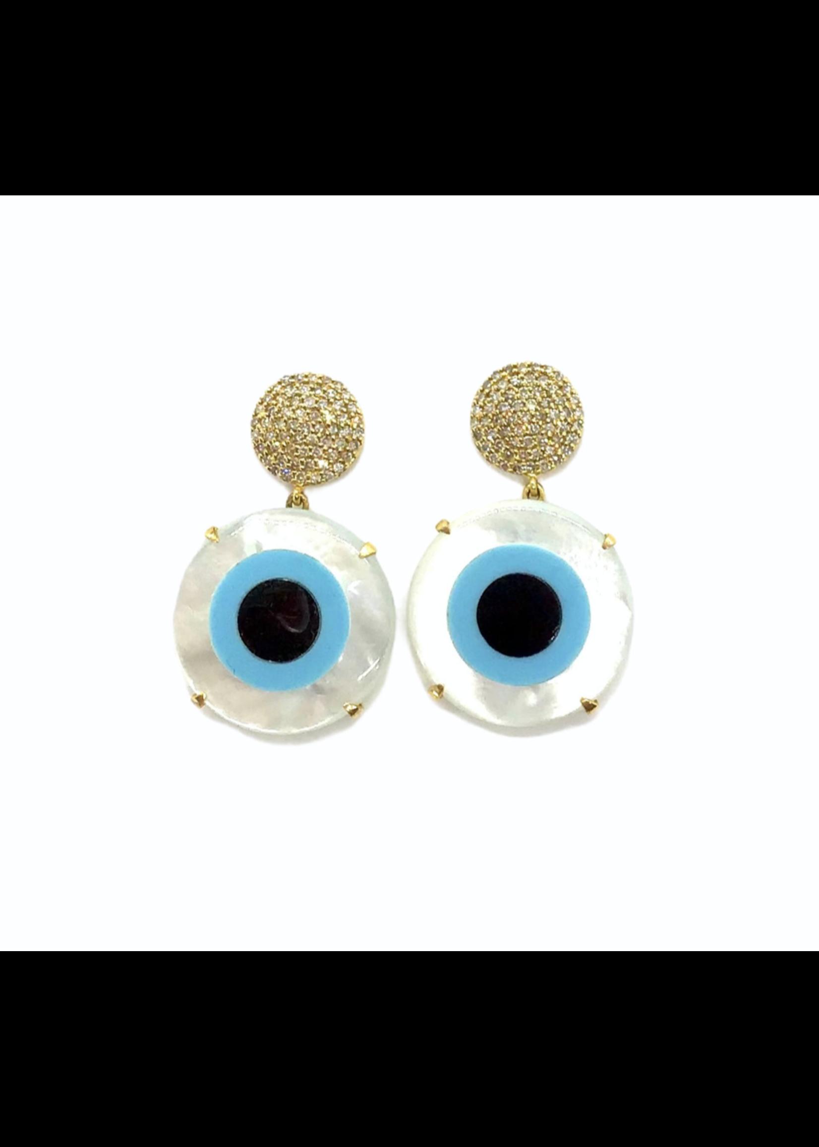 Jill Alberts Evil Eye Earrings