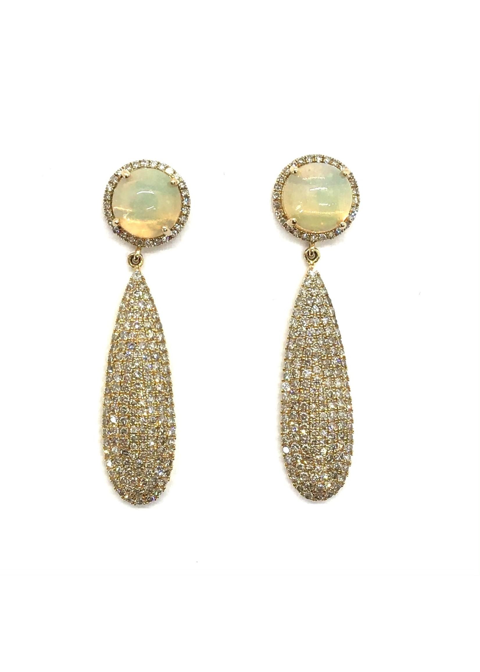 Jill Alberts  Opal & Diamond Drops