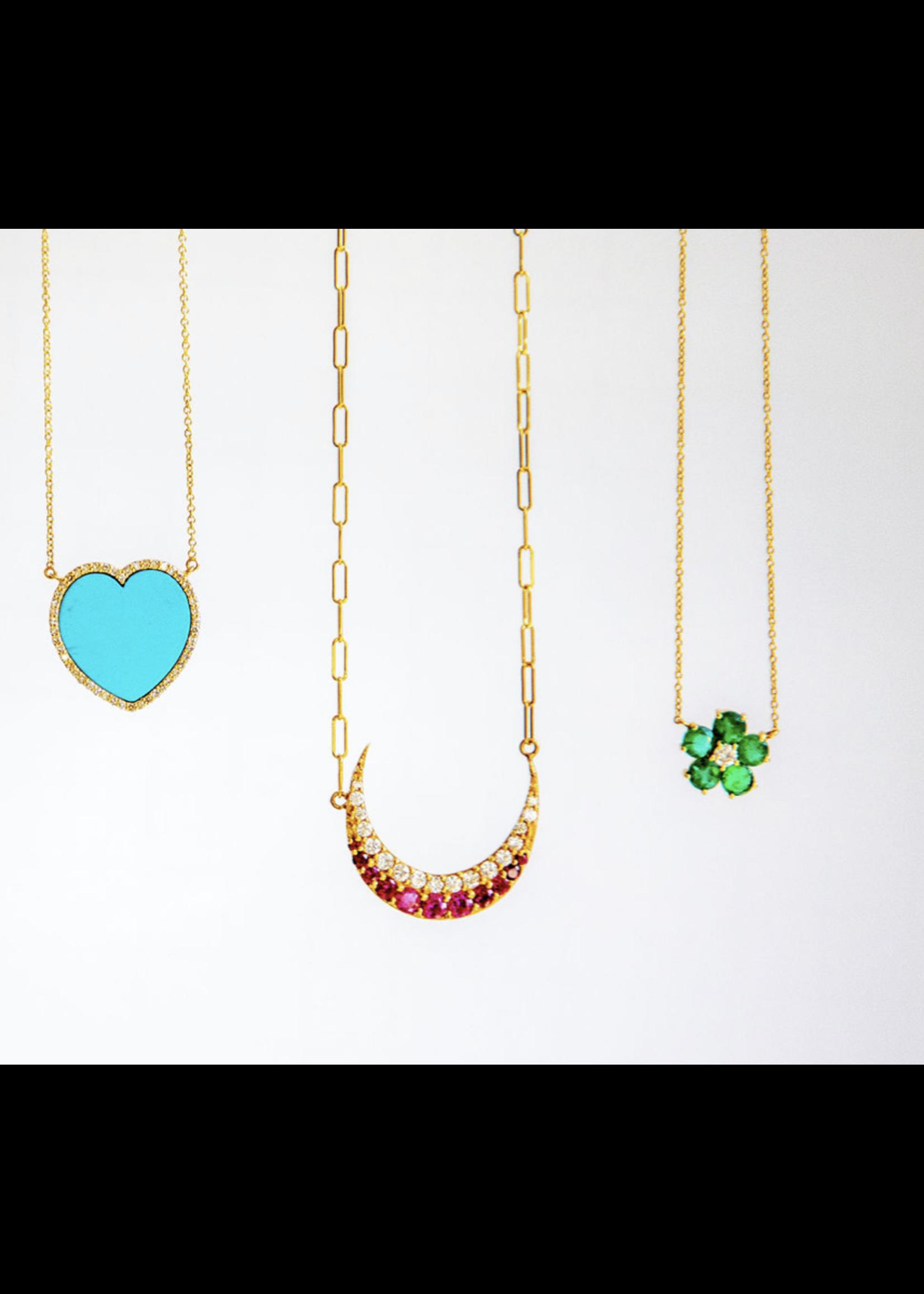 Jill Alberts Emerald Flower Necklace