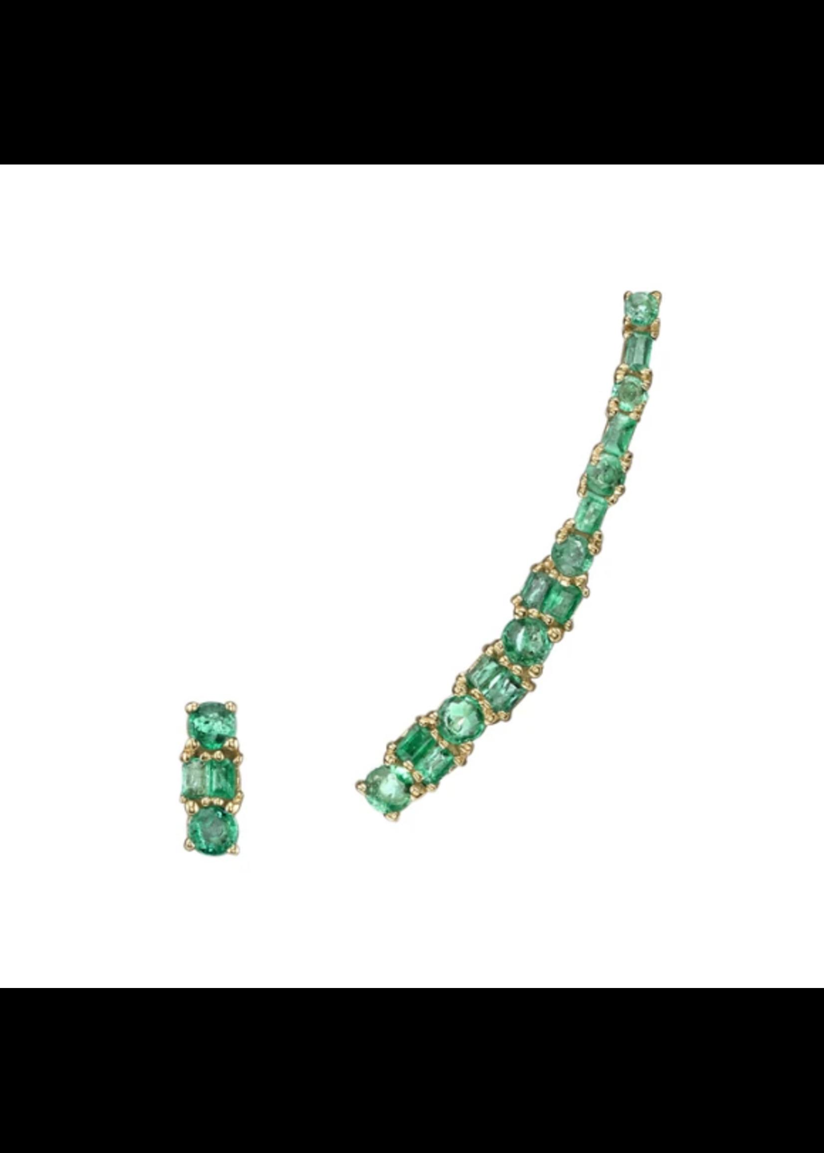 Borgioni Emerald Cut Ear Climber & Stud