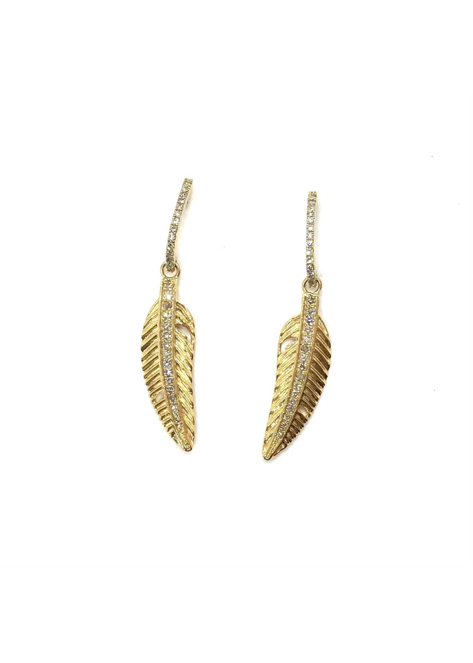 Jill Alberts Feather Drop Earrings