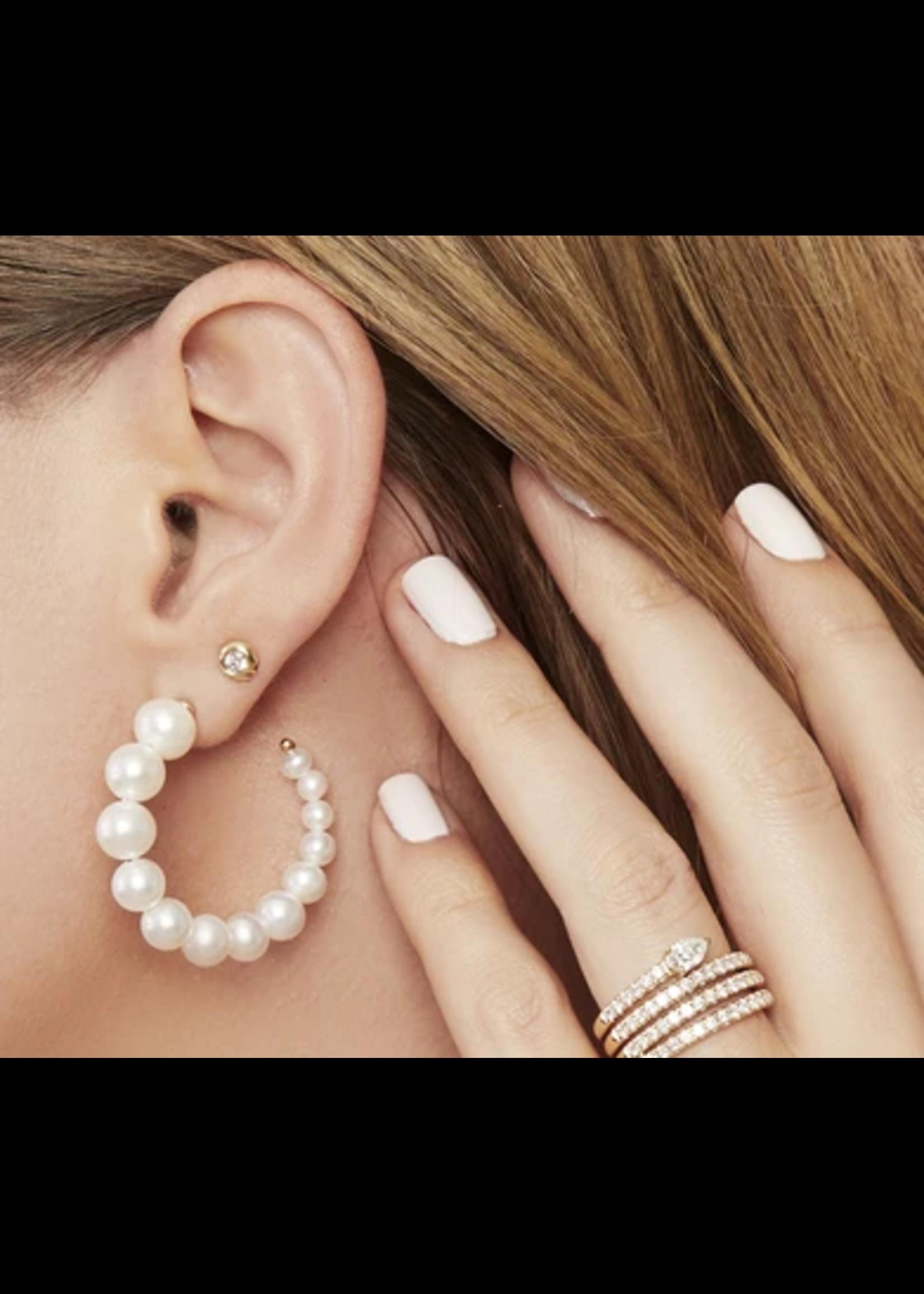 Jill Alberts Freshwater Pearl Hoop Earrings