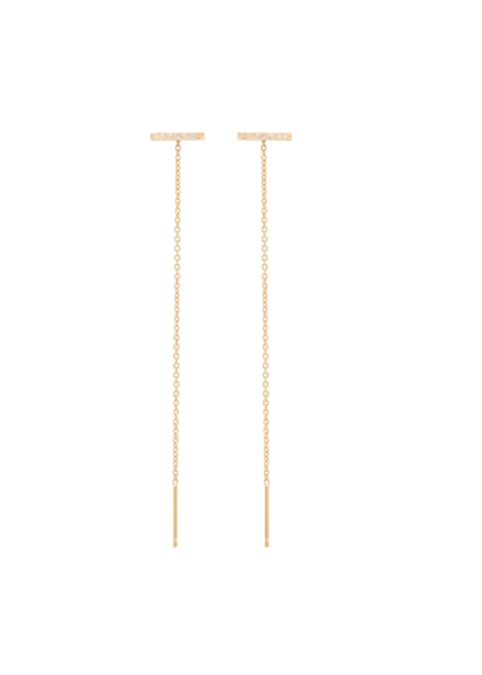 Zoe Chicco Thin Bar Stud Threader Earrings