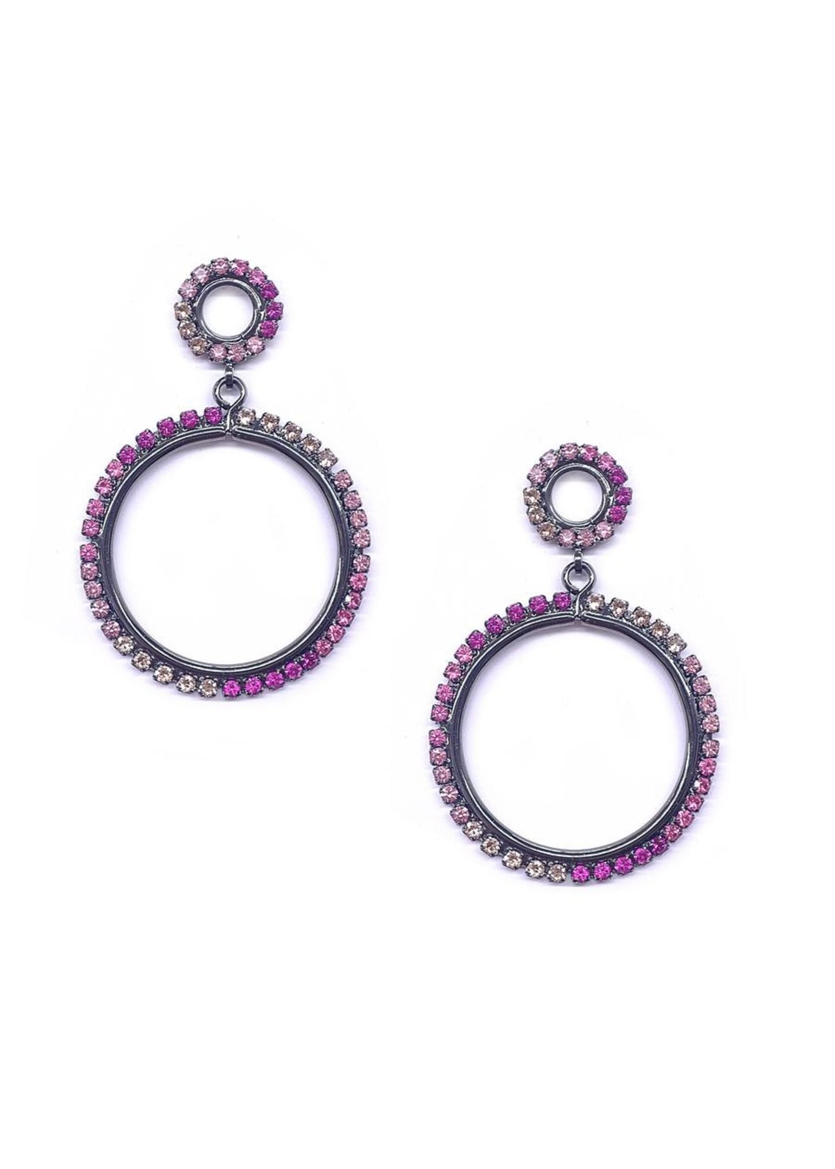 Elizabeth Cole Kinsley Double Circle Earrings
